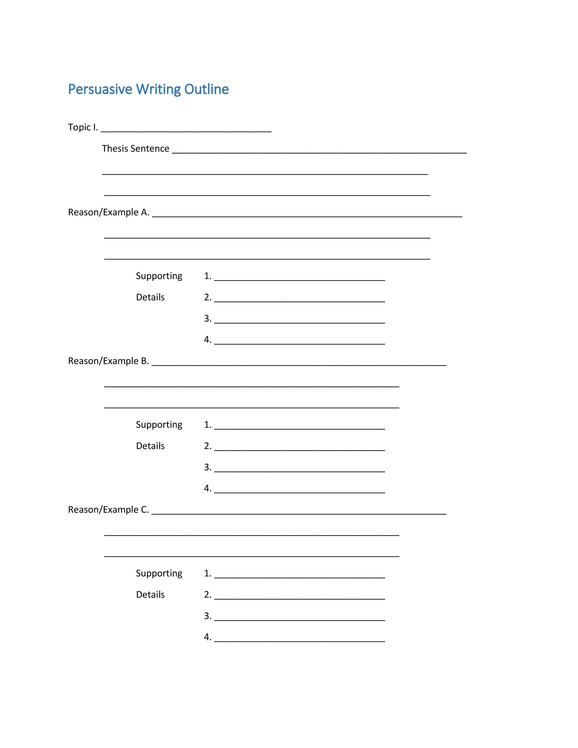writing outline template - Gecce.tackletarts.co