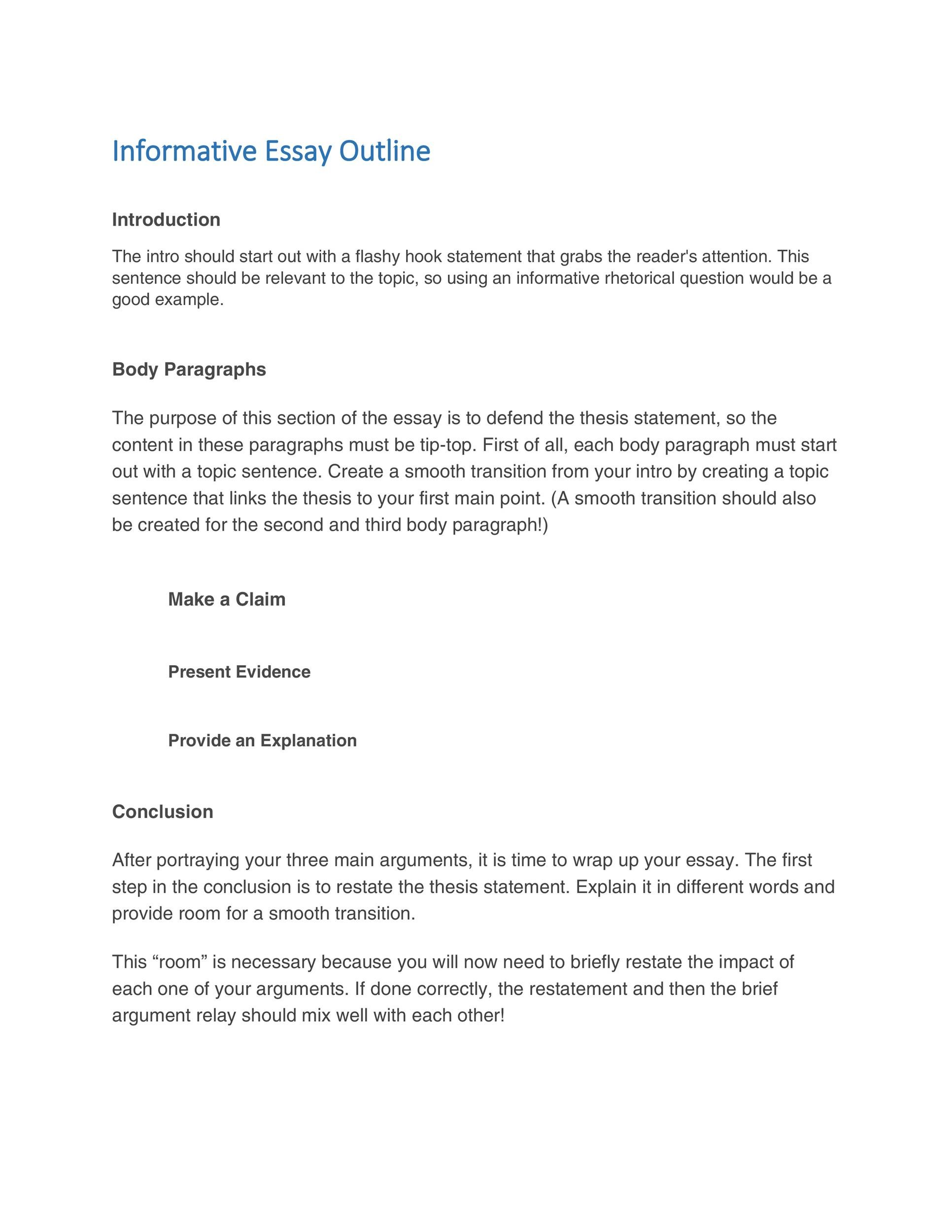 Free Essay Outline Template 36