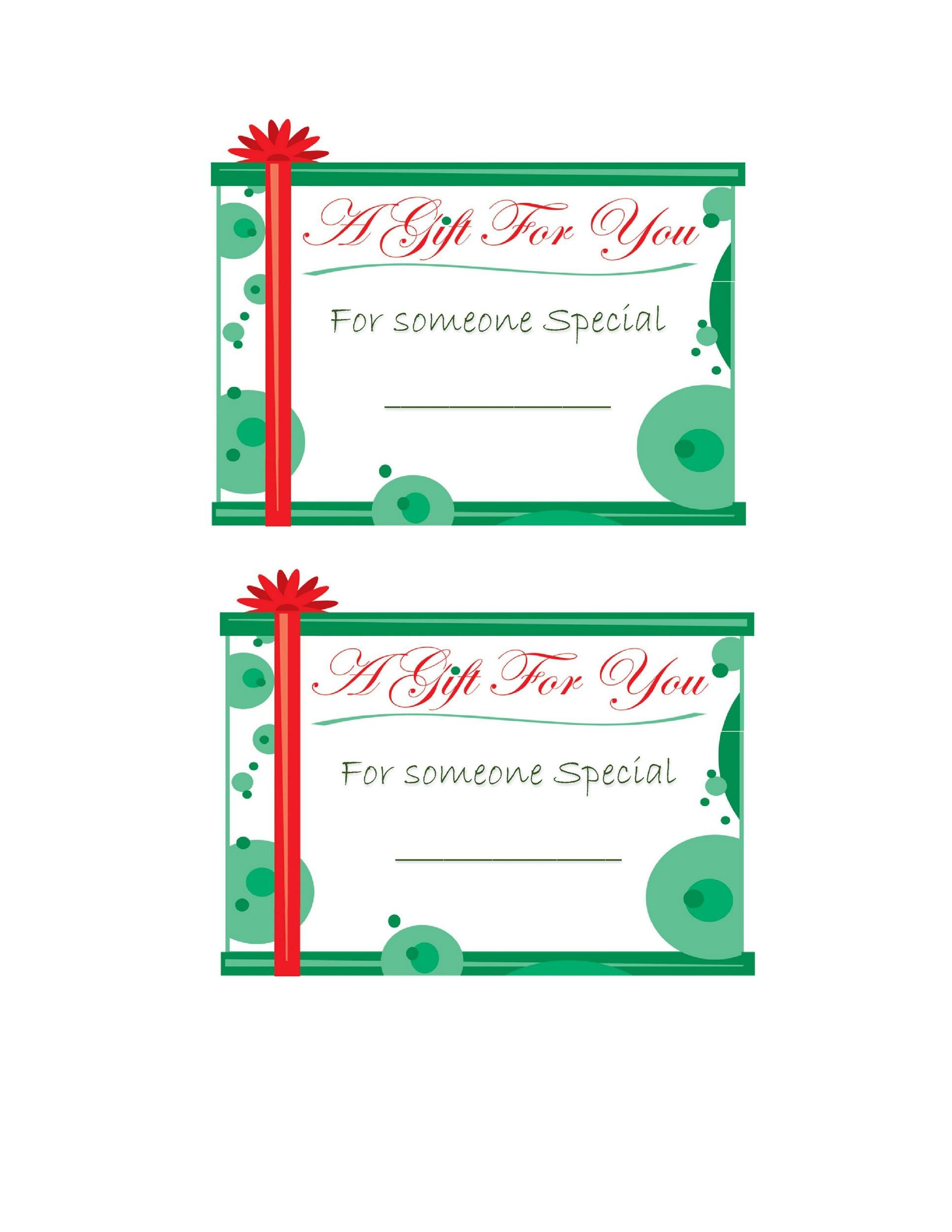 44 Free Printable Gift Tag Templates - Template Lab