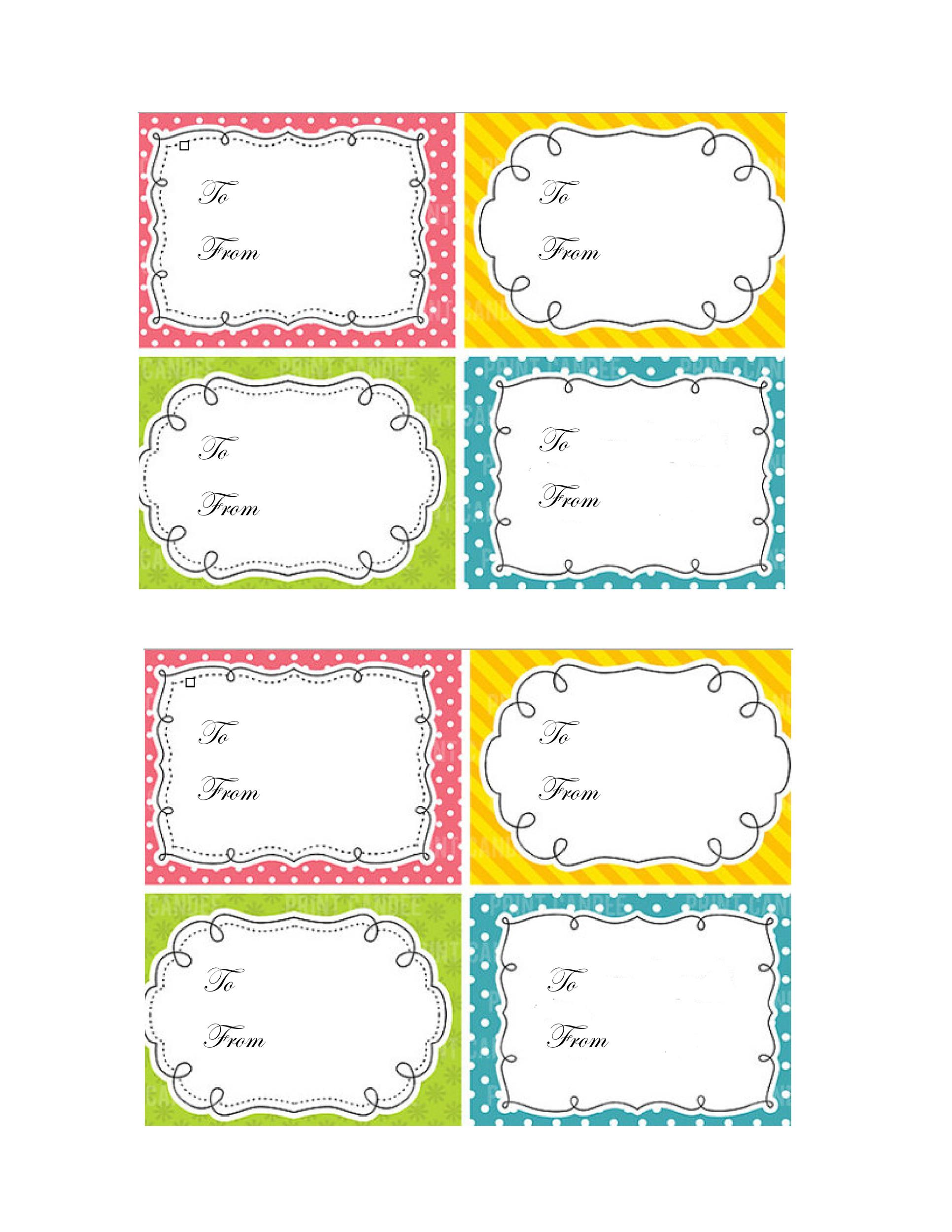 Free Gift Tag Template 03