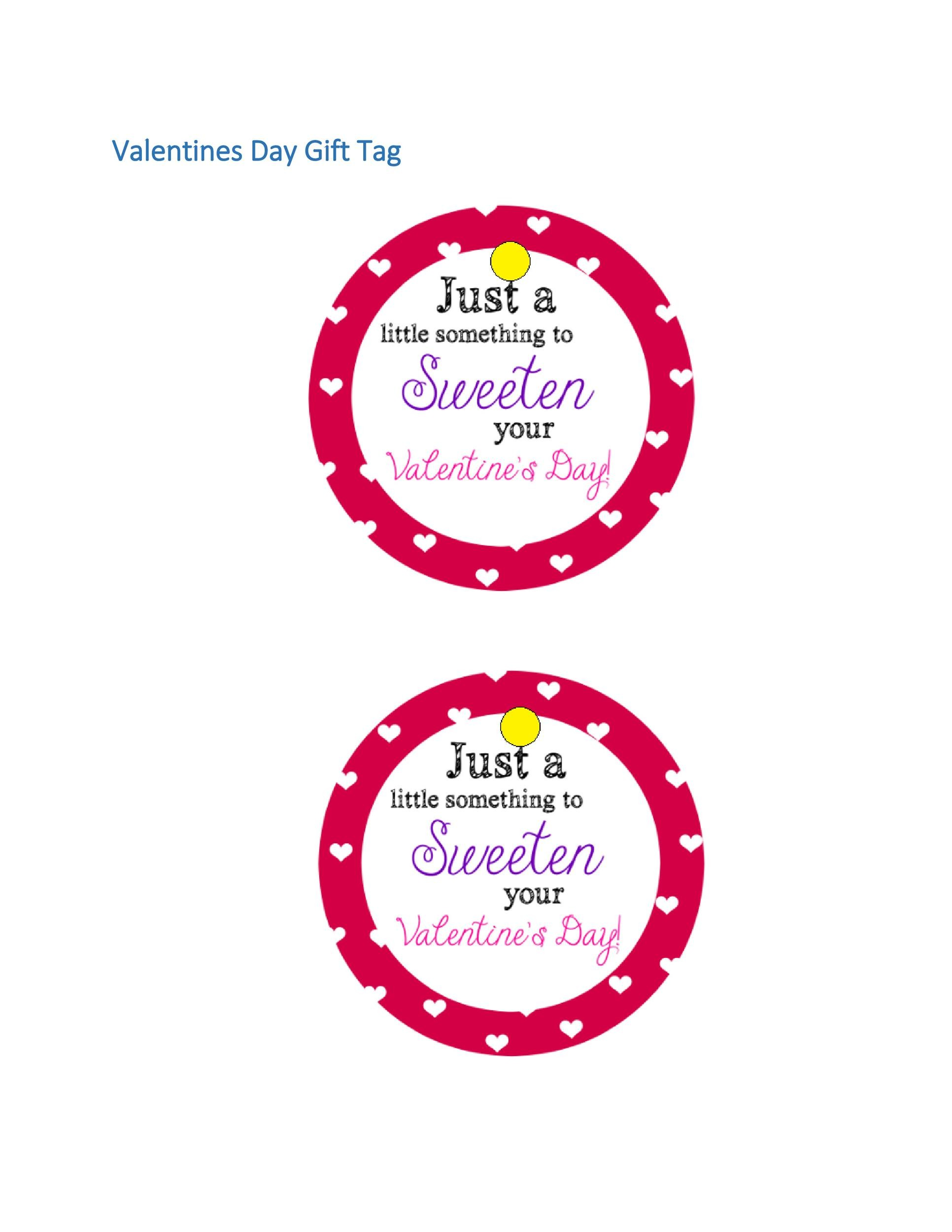 Free Gift Tag Template 12