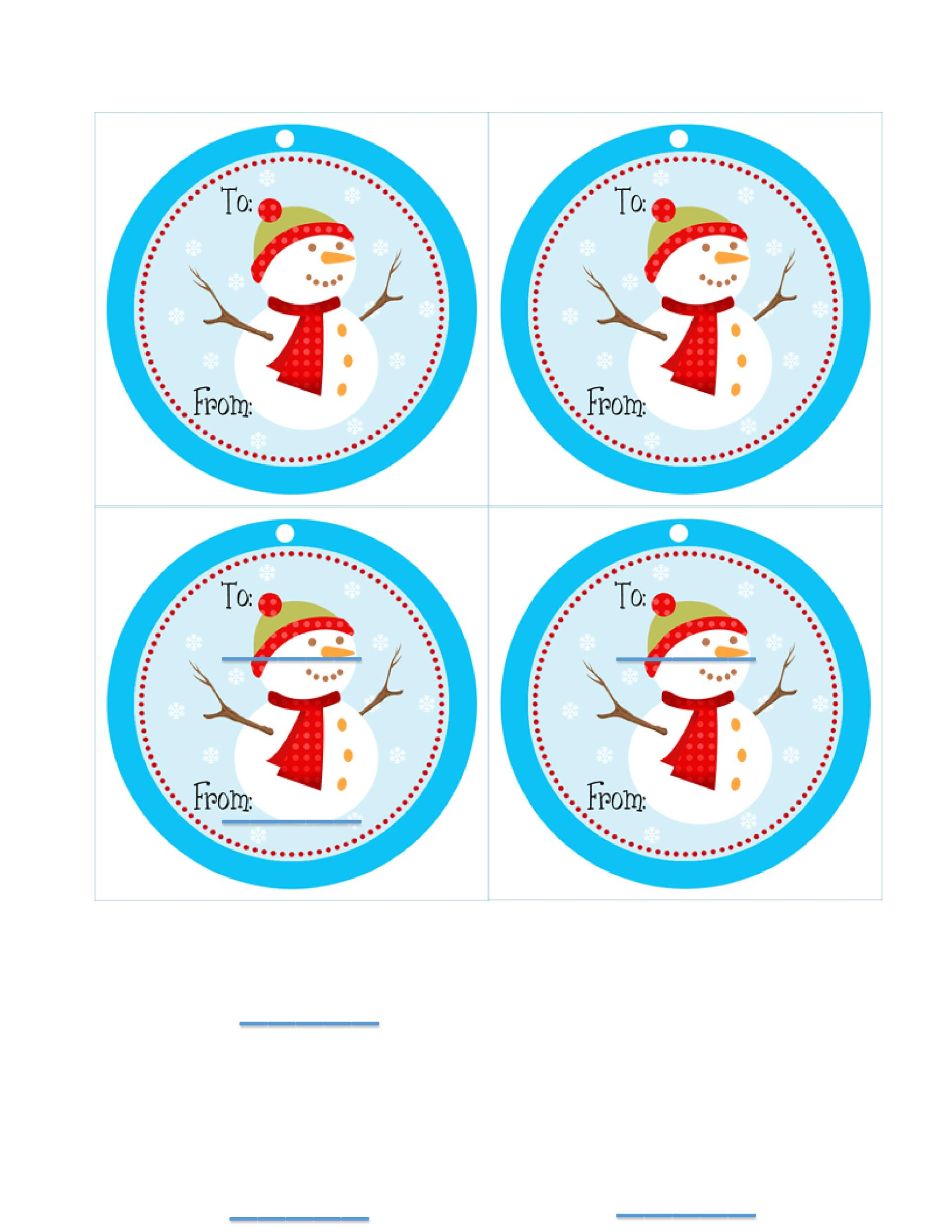 Free Gift Tag Template 15