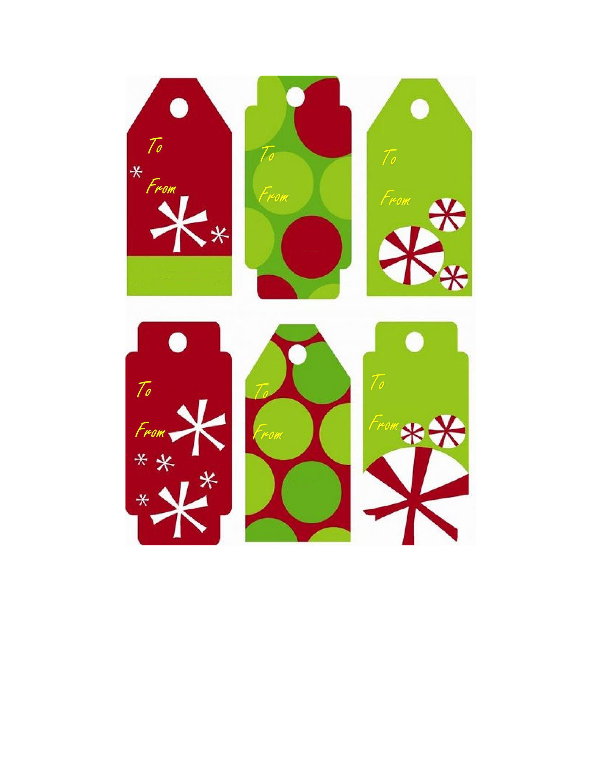 Free Gift Tag Template 17