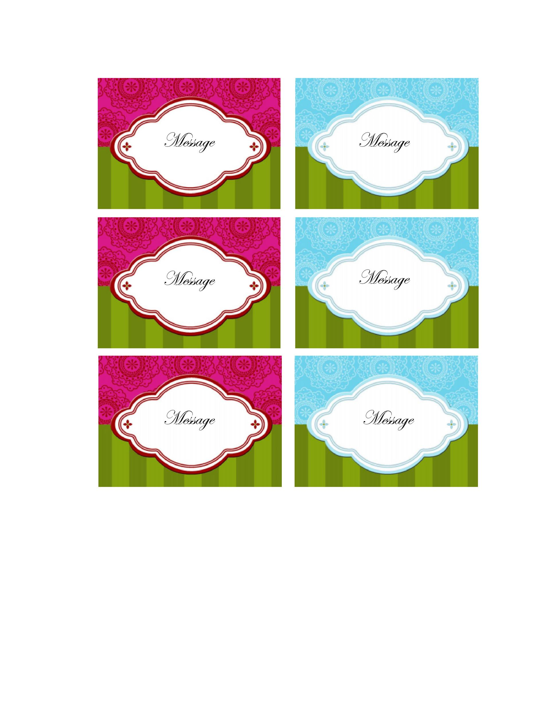 Free Gift Tag Template 20
