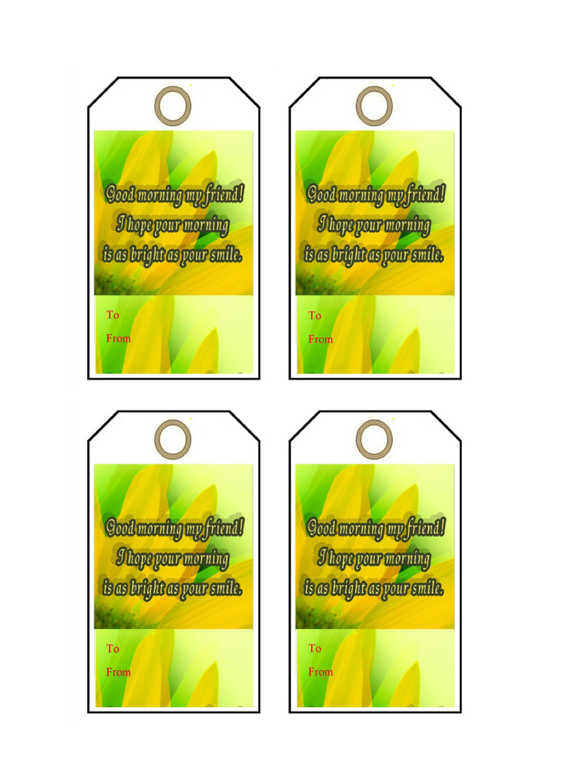 Free Gift Tag Template 23