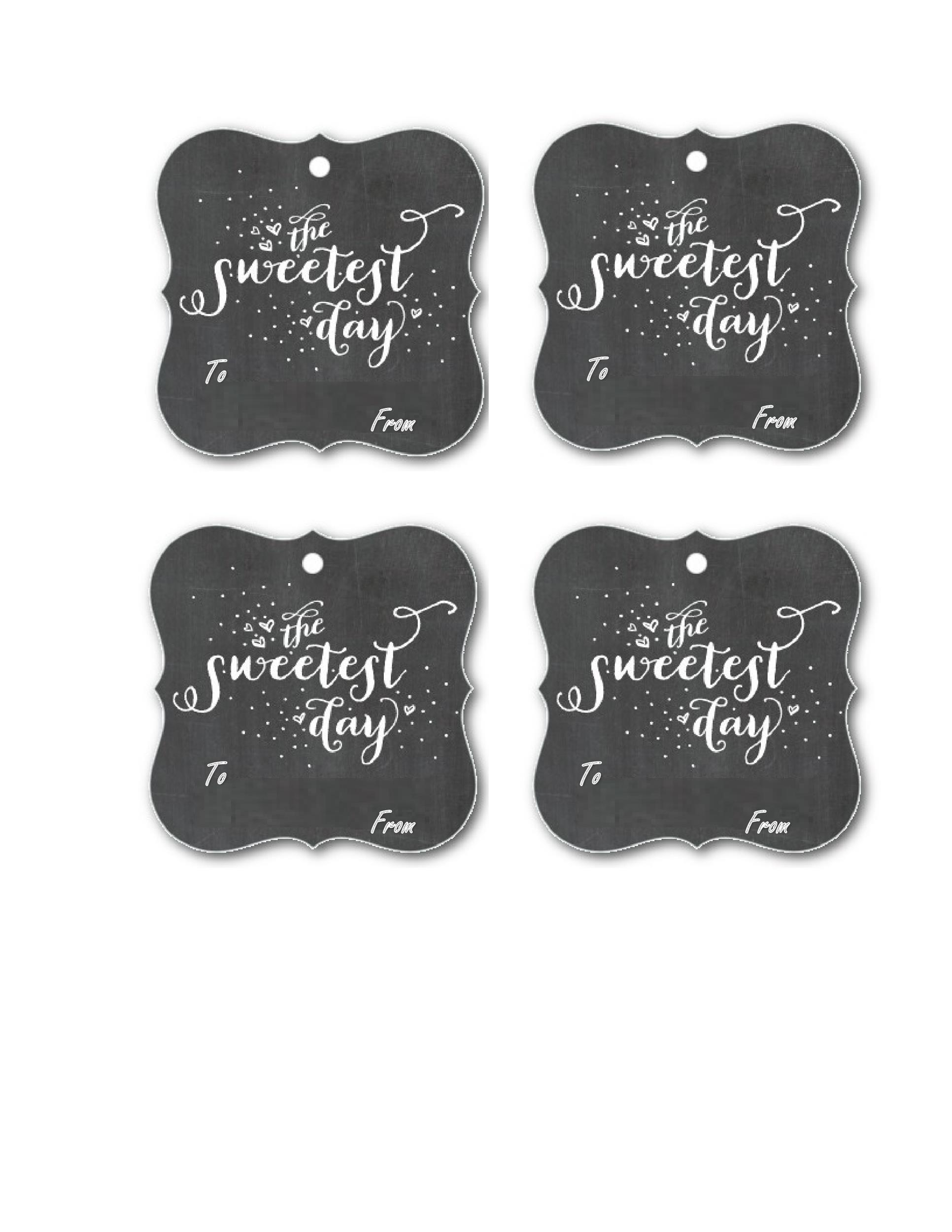 Free Gift Tag Template 26