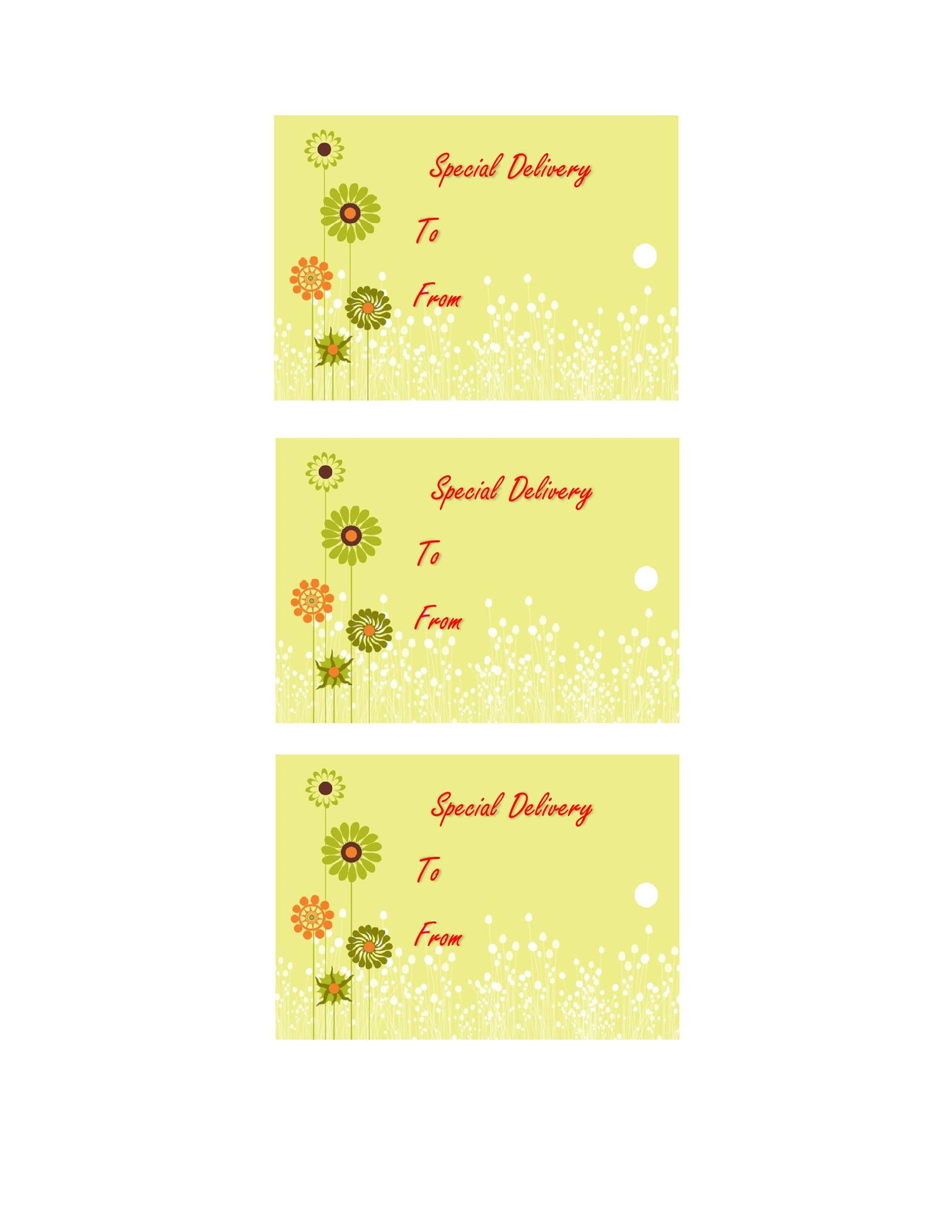 Free Gift Tag Template 27
