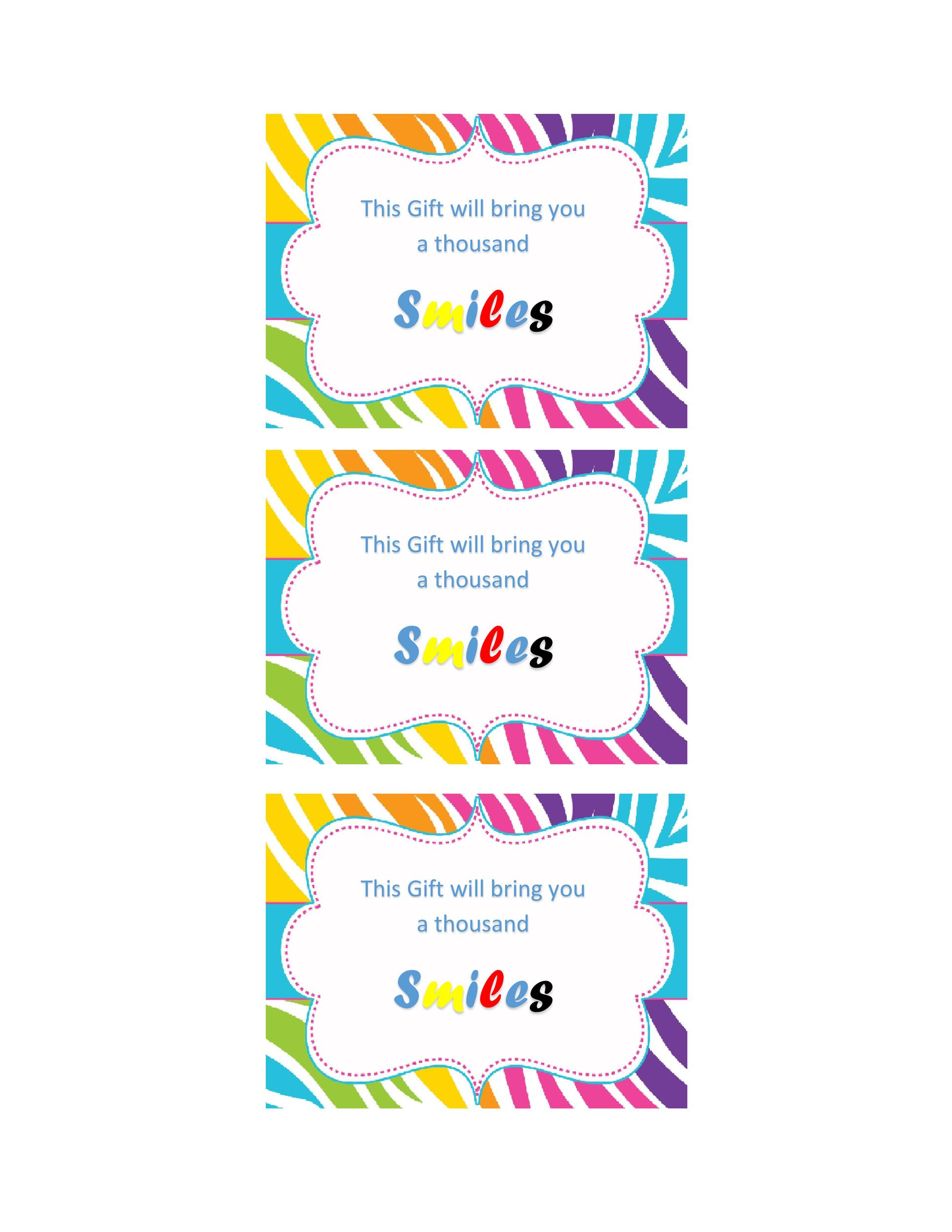 Free Gift Tag Template 29