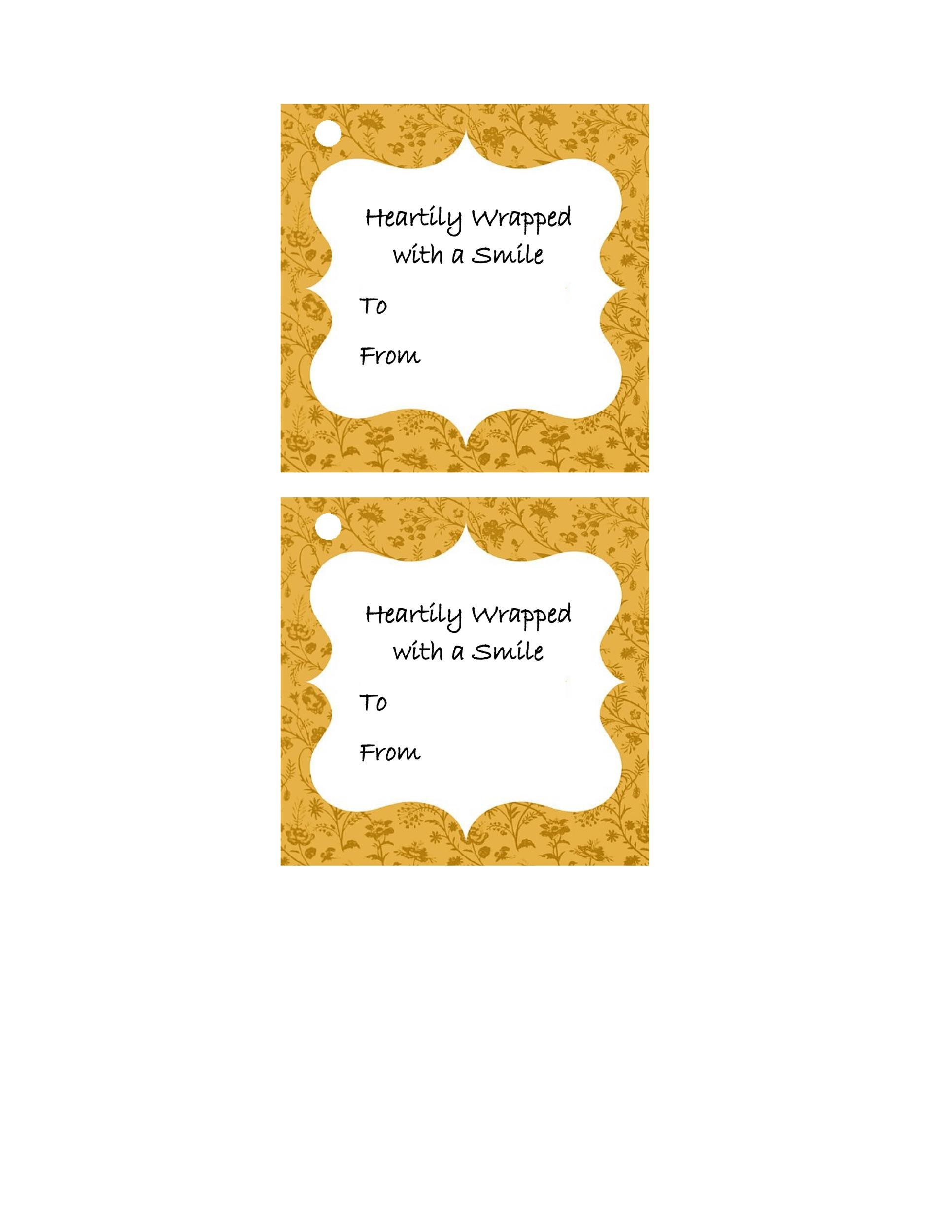 Free Gift Tag Template 30