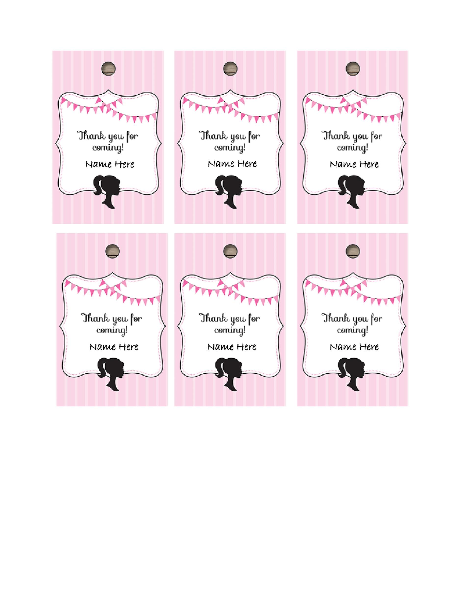 picture regarding Thank You Gift Tags Printable called 44 Absolutely free Printable Present Tag Templates ᐅ Template Lab