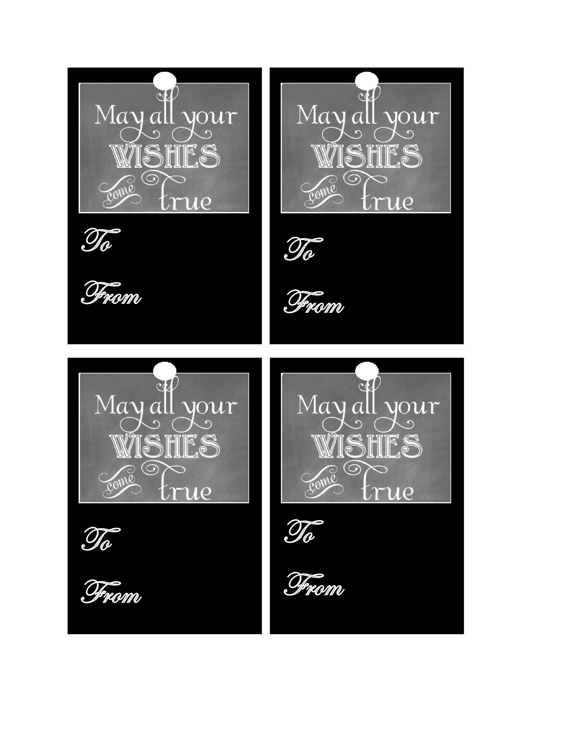Free Gift Tag Template 35
