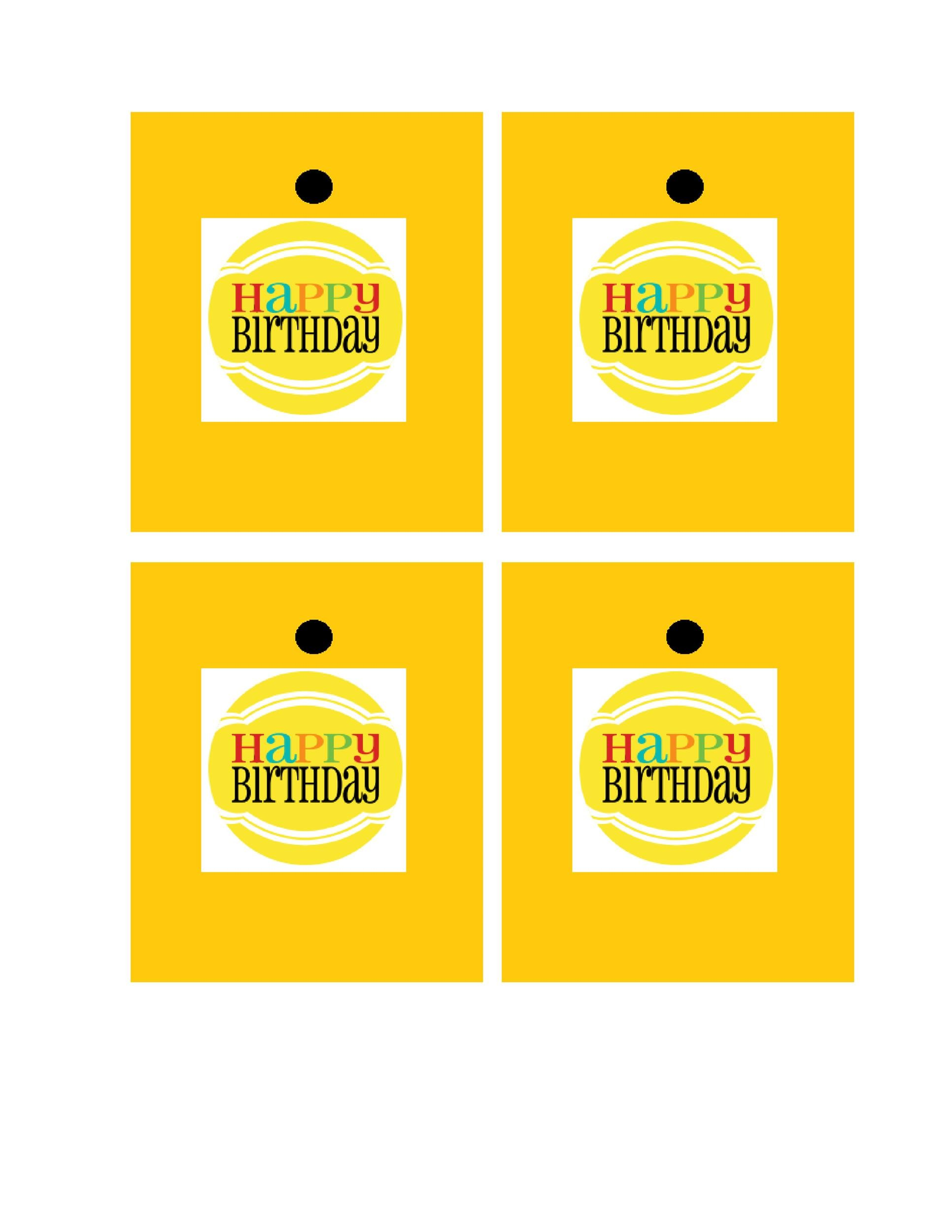Free Gift Tag Template 36