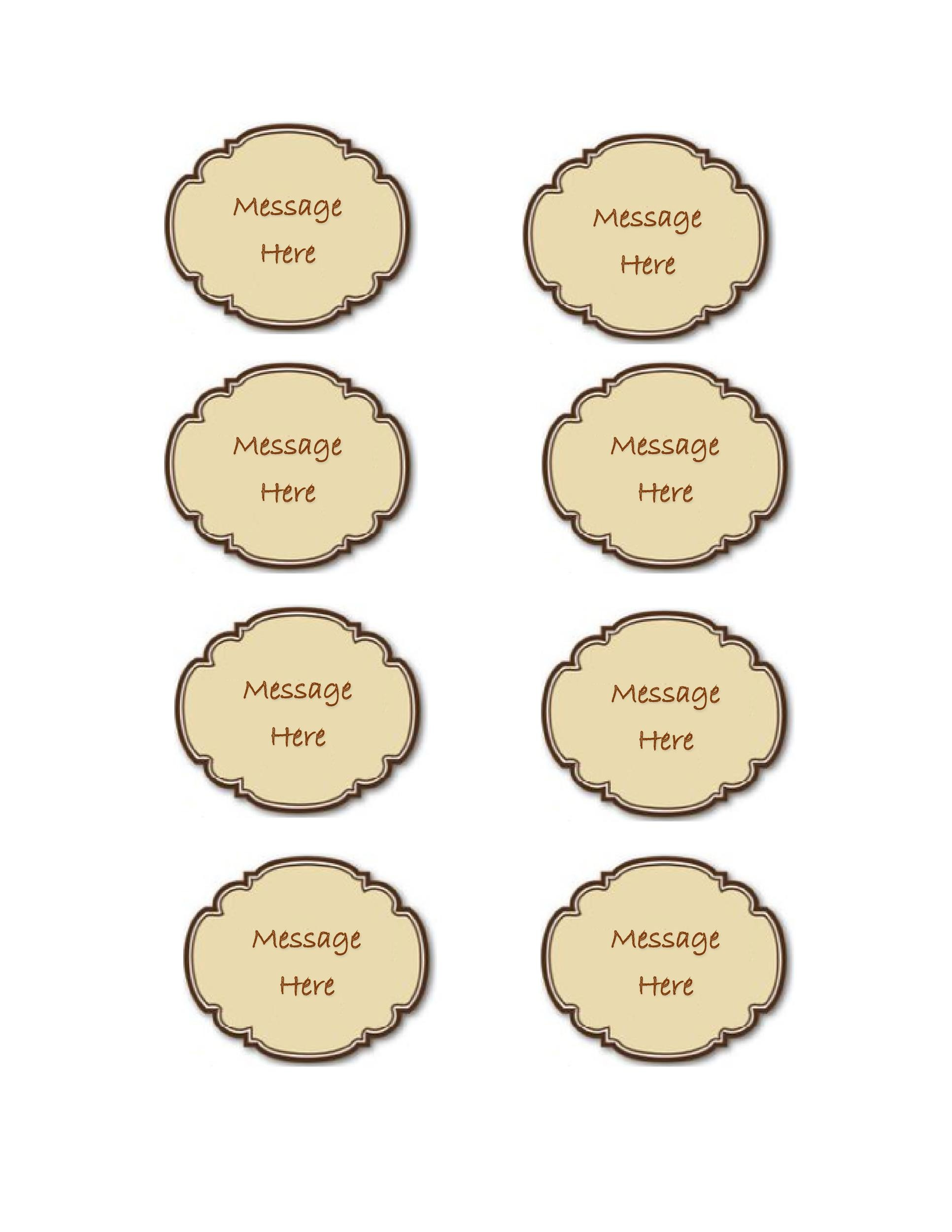 Free Gift Tag Template 38