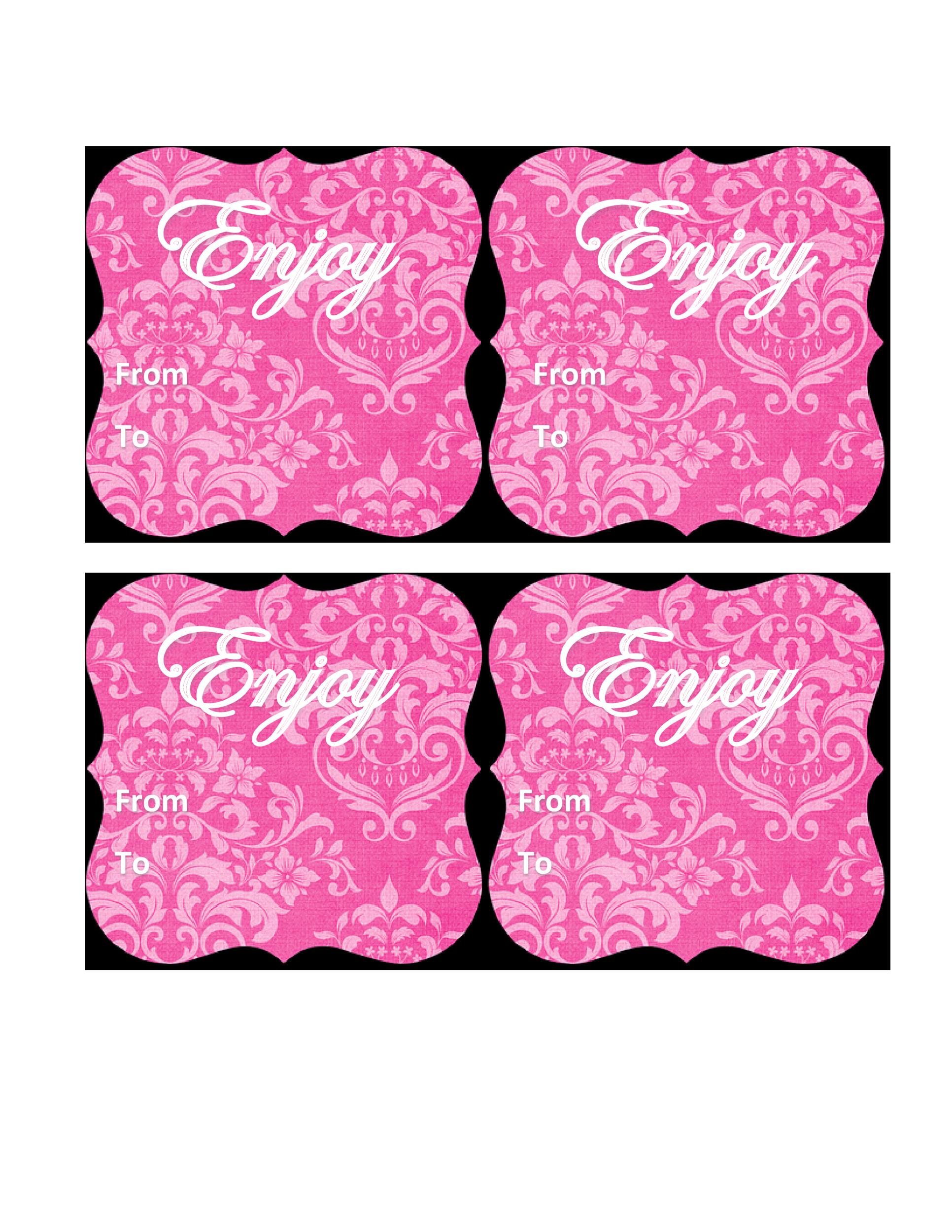 Free Gift Tag Template 42