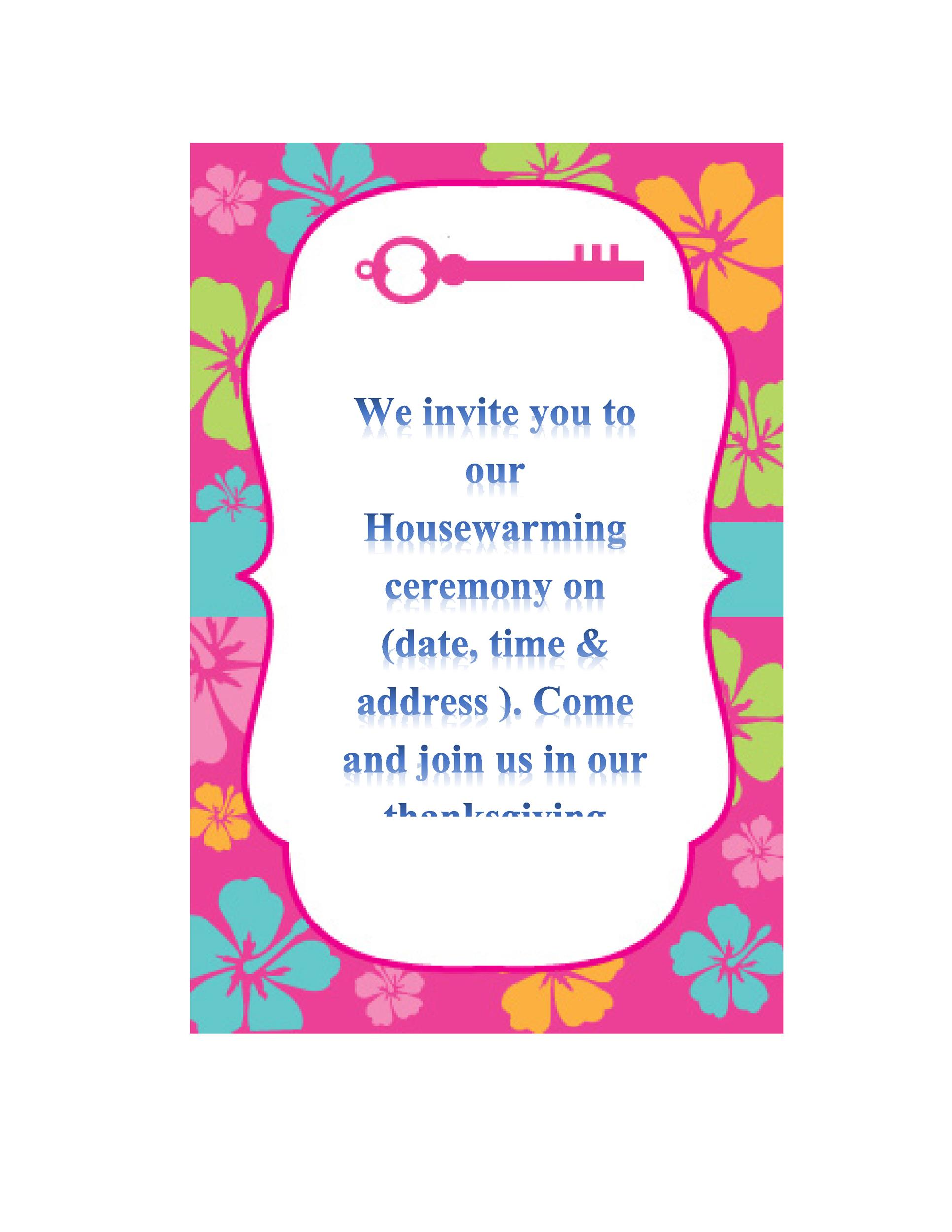 Housewarming Invitation Template | 40 Free Printable Housewarming Party Invitation Templates