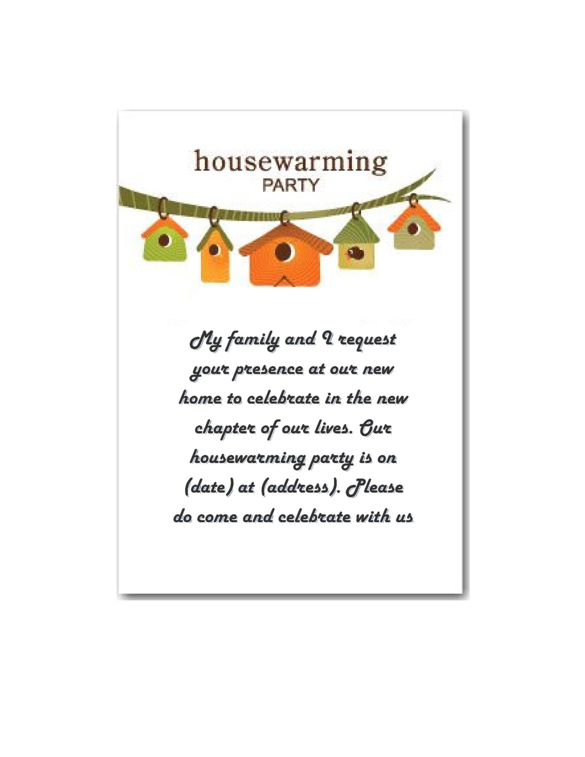 Housewarming Party Invitation Letter Amazing Invitation Template