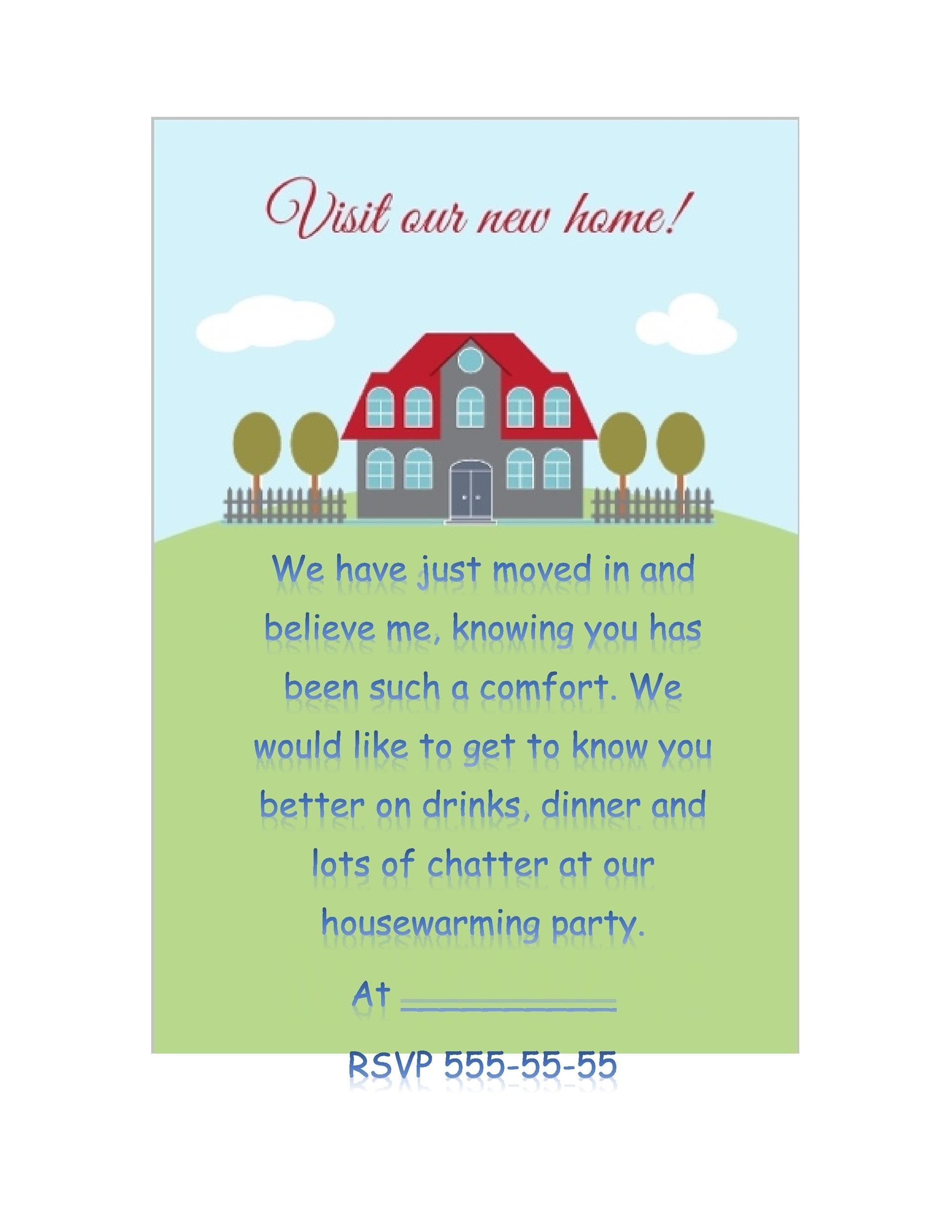 Free Housewarming Invitation Template 08