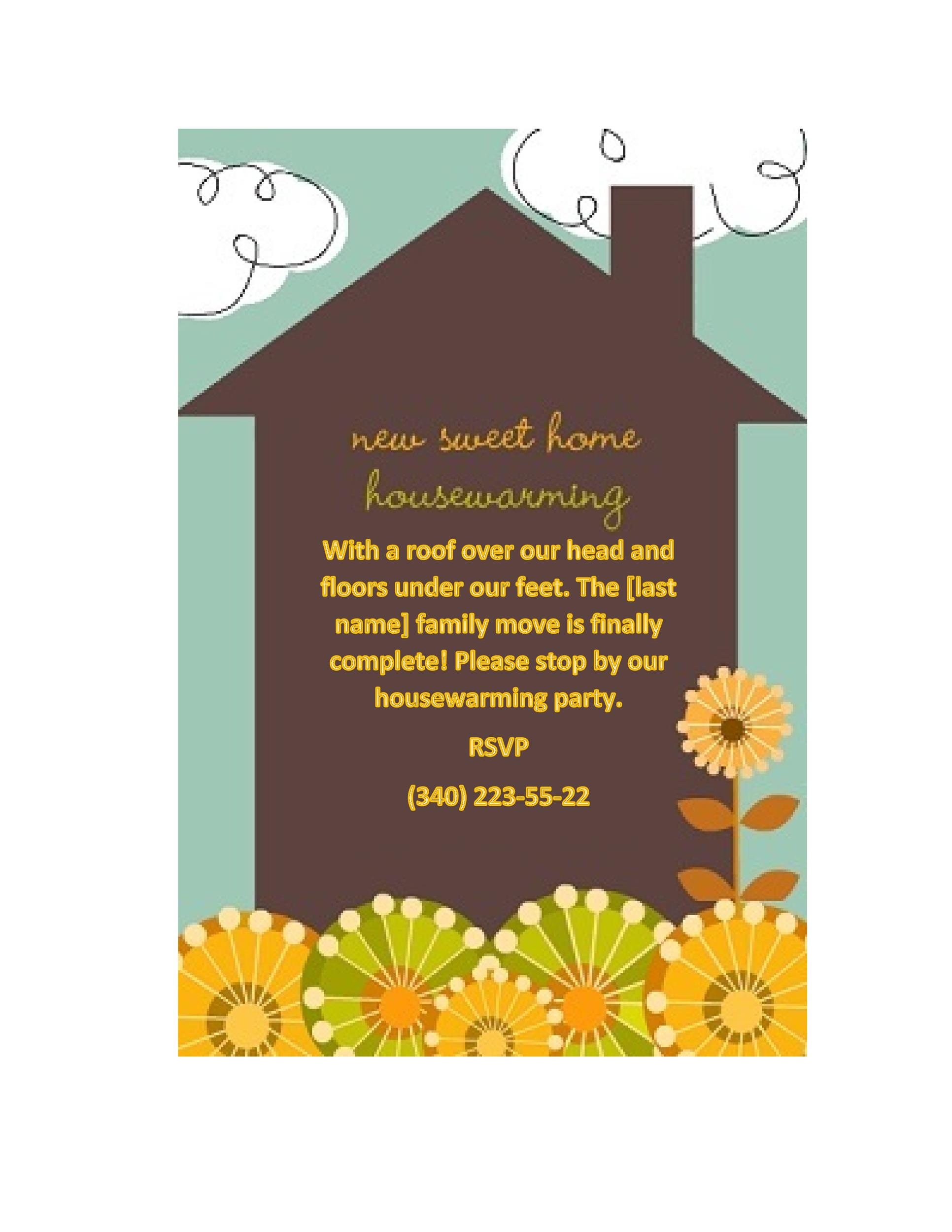 graphic about Printable Housewarming Invitations identified as 40+ Cost-free Printable Housewarming Social gathering Invitation Templates