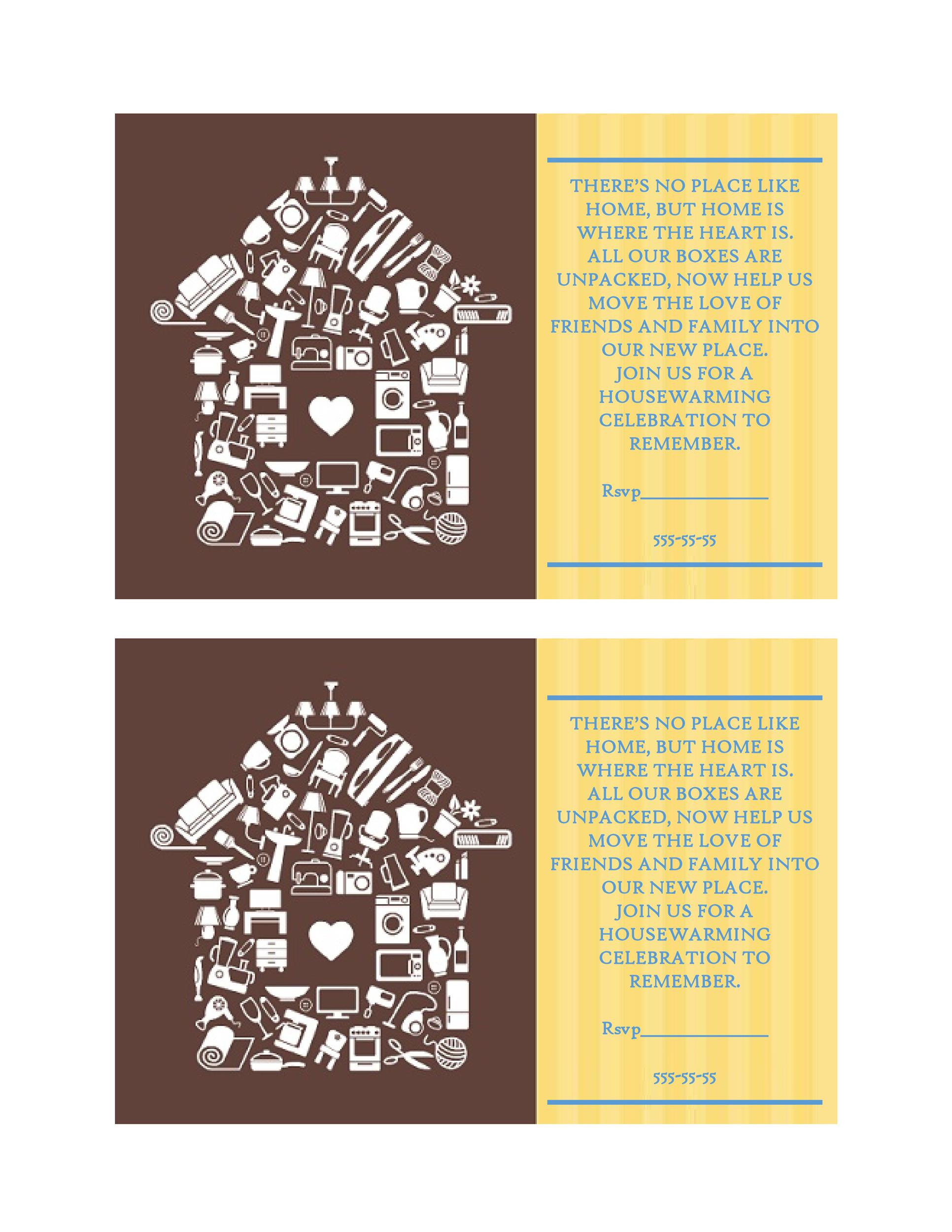 Free Housewarming Invitation Template 13