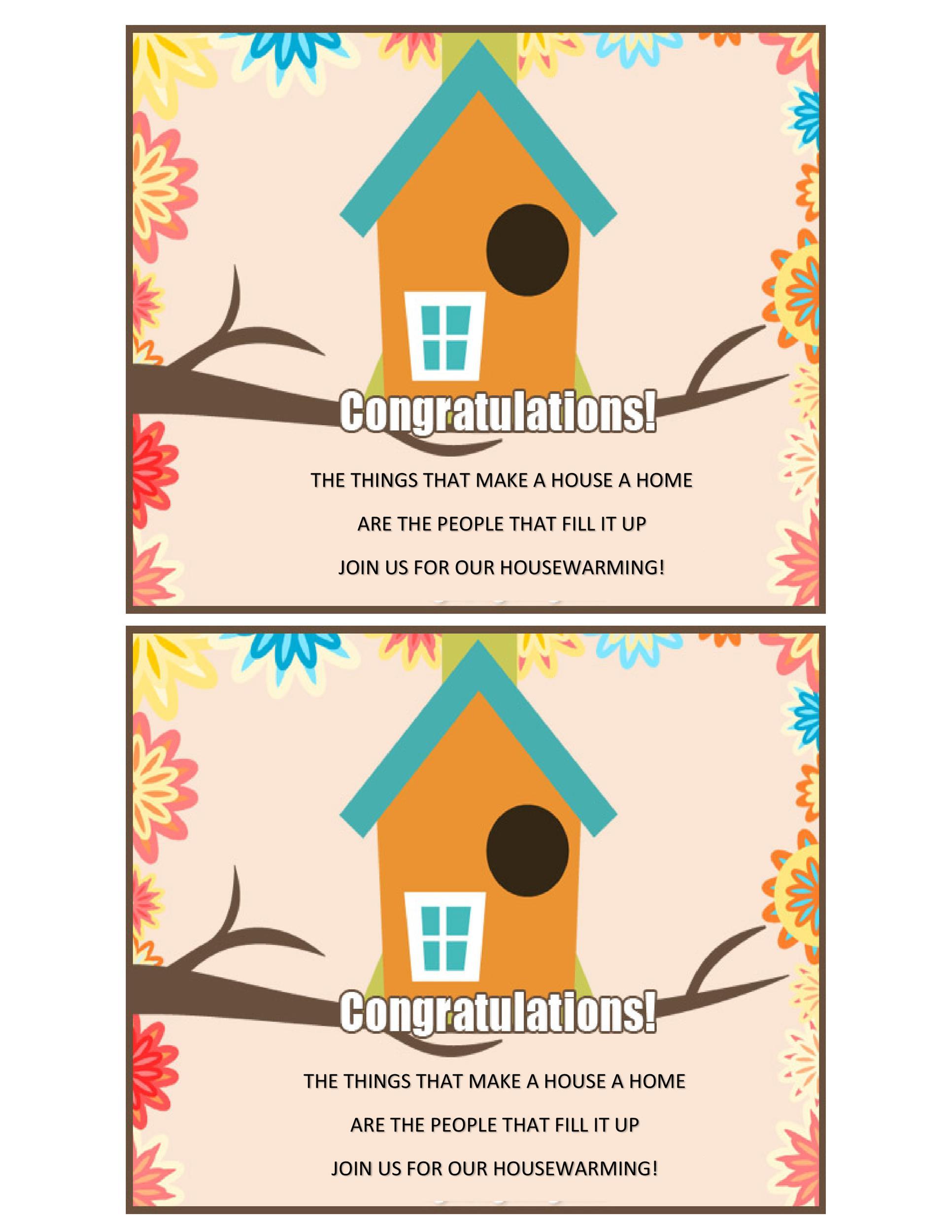 Free Housewarming Invitation Template 18