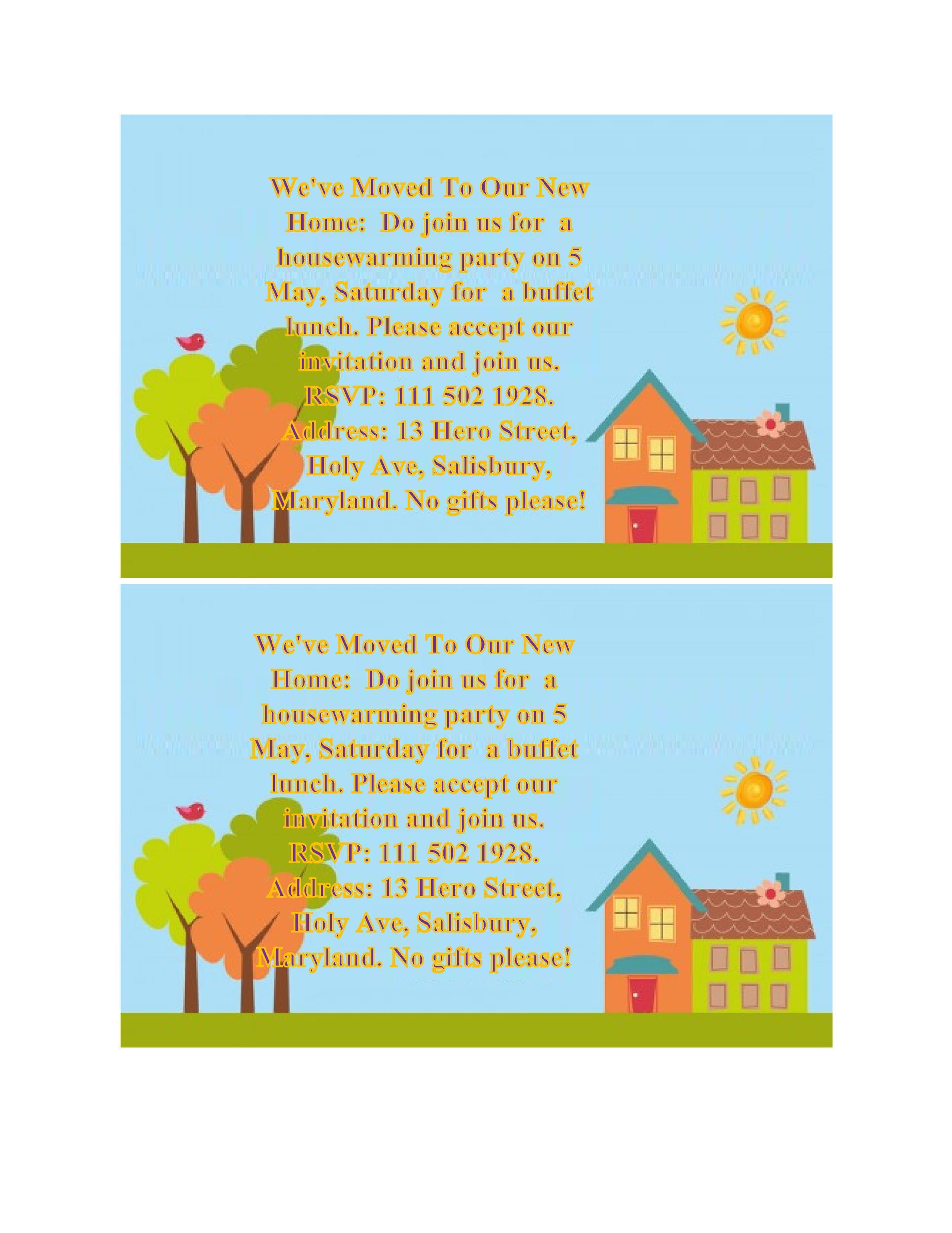Free Housewarming Invitation Template 20