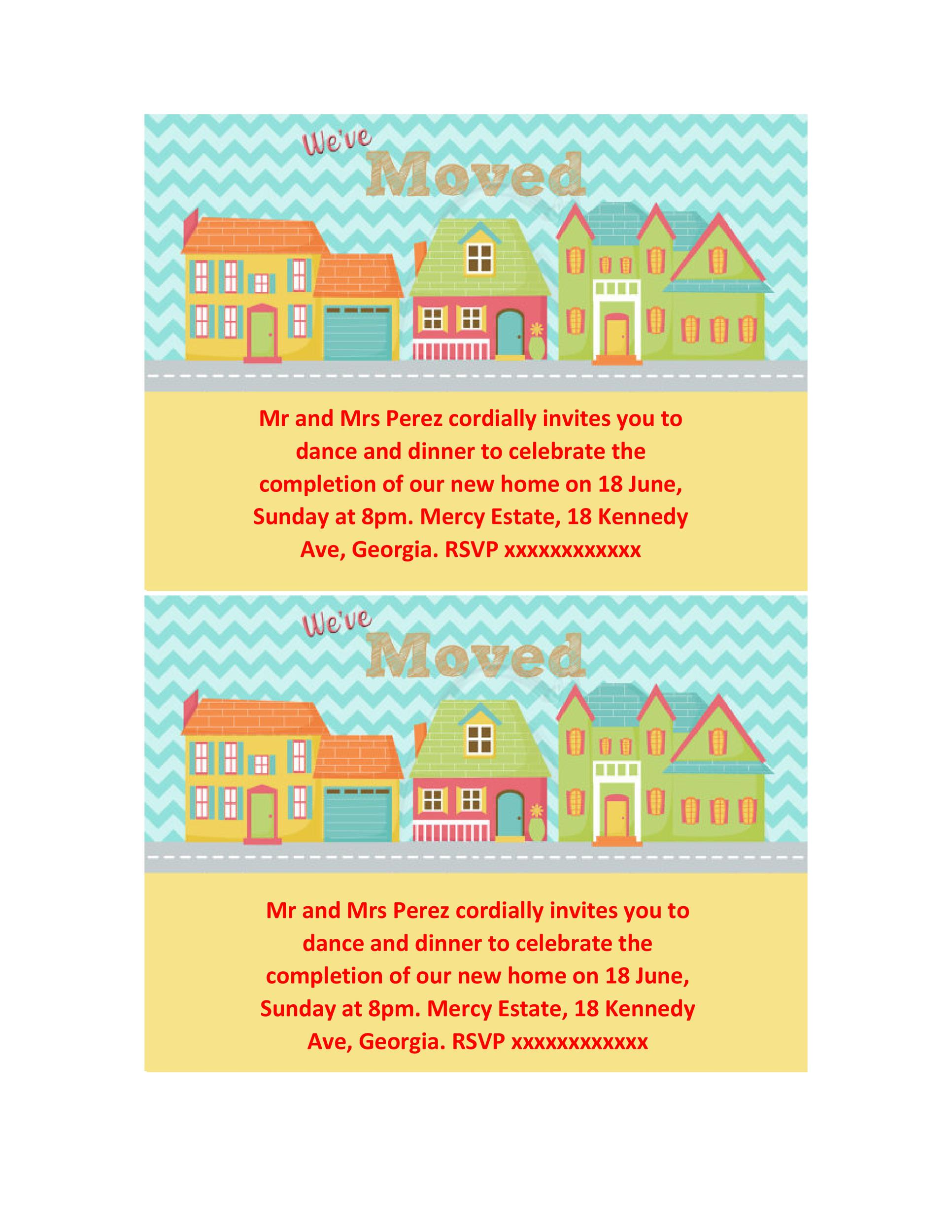 Free Housewarming Invitation Template 21