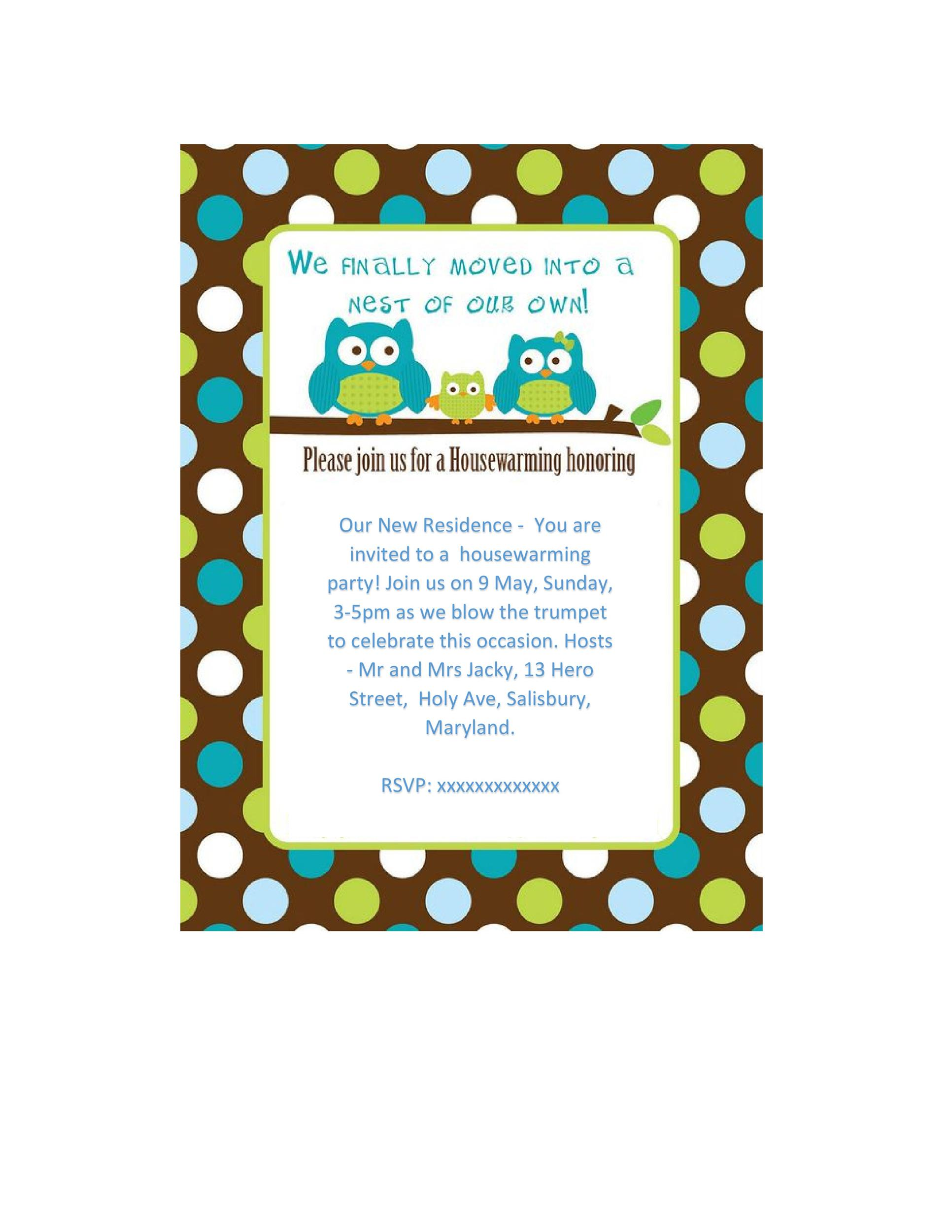 Housewarming invitations templates