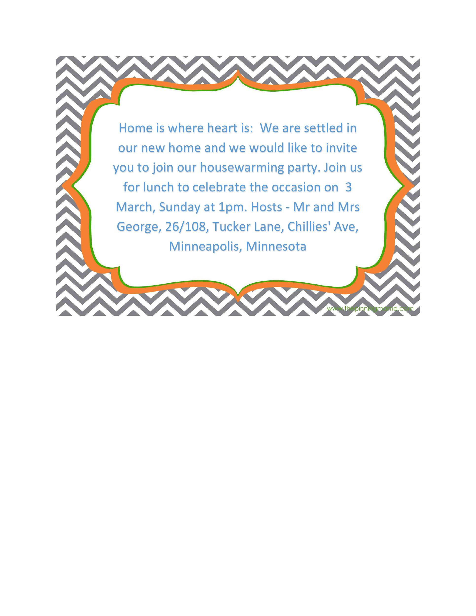 Free Housewarming Invitation Template 25
