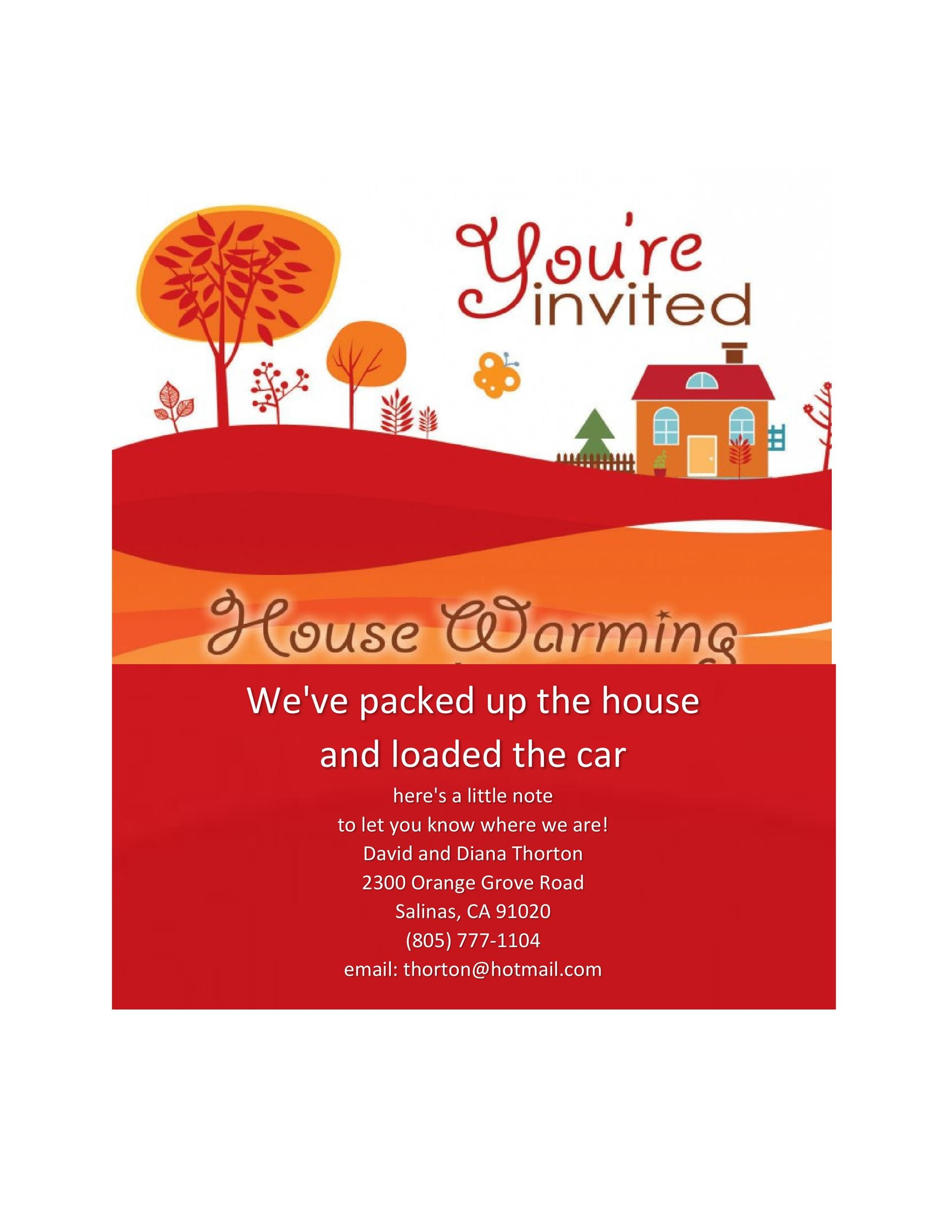 photo regarding Free Printable Housewarming Invitations titled 40+ Free of charge Printable Housewarming Social gathering Invitation Templates