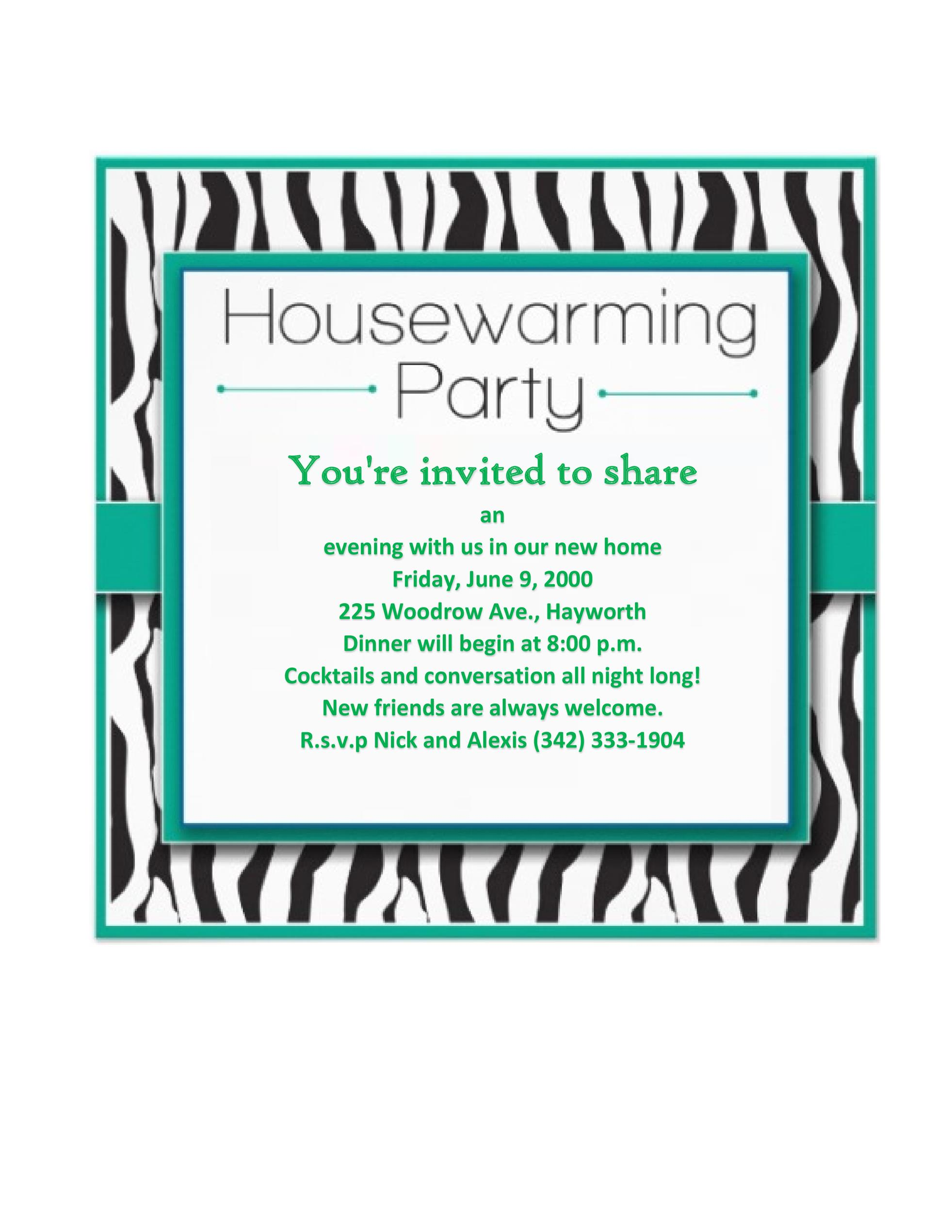 Free Housewarming Invitation Template 29