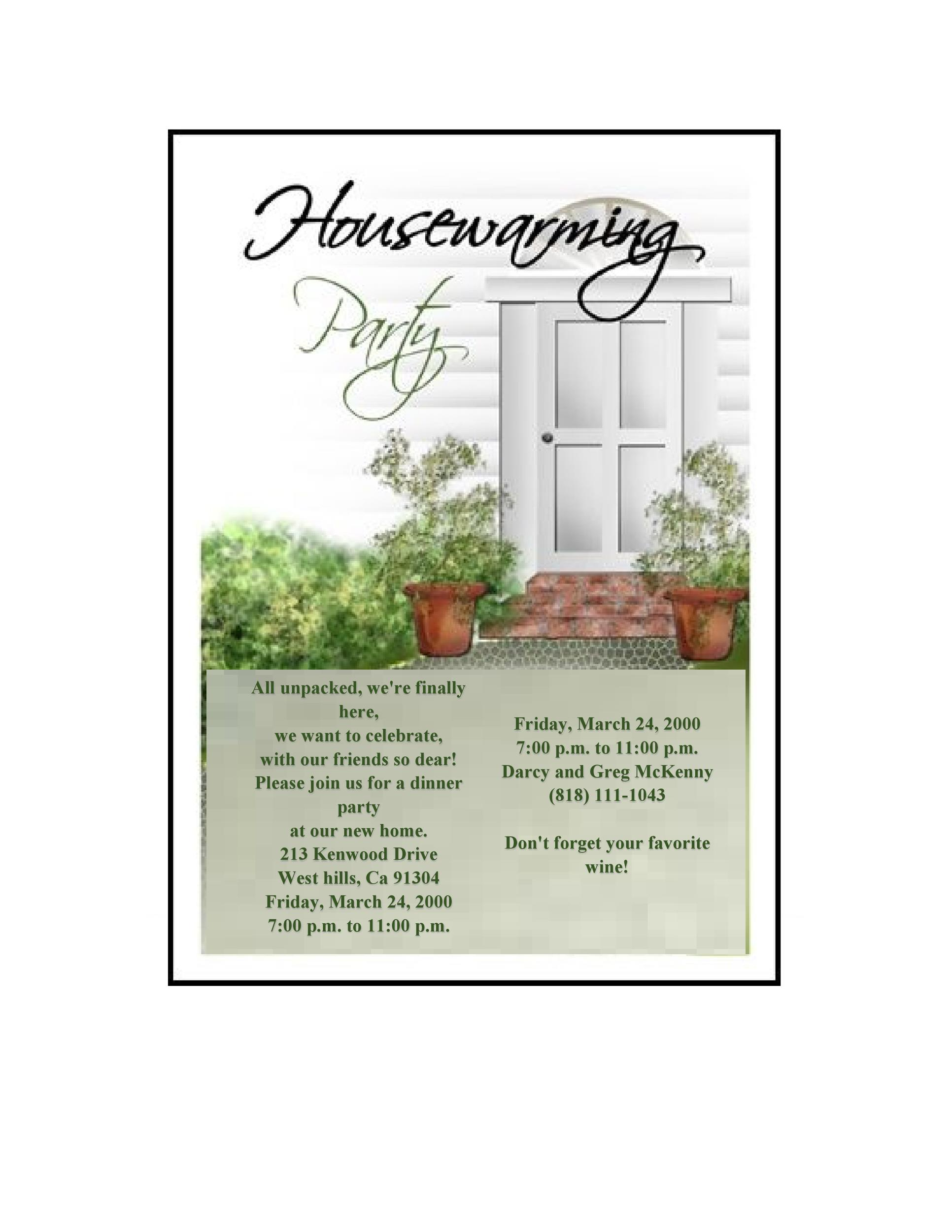 Free Housewarming Invitation Template 30