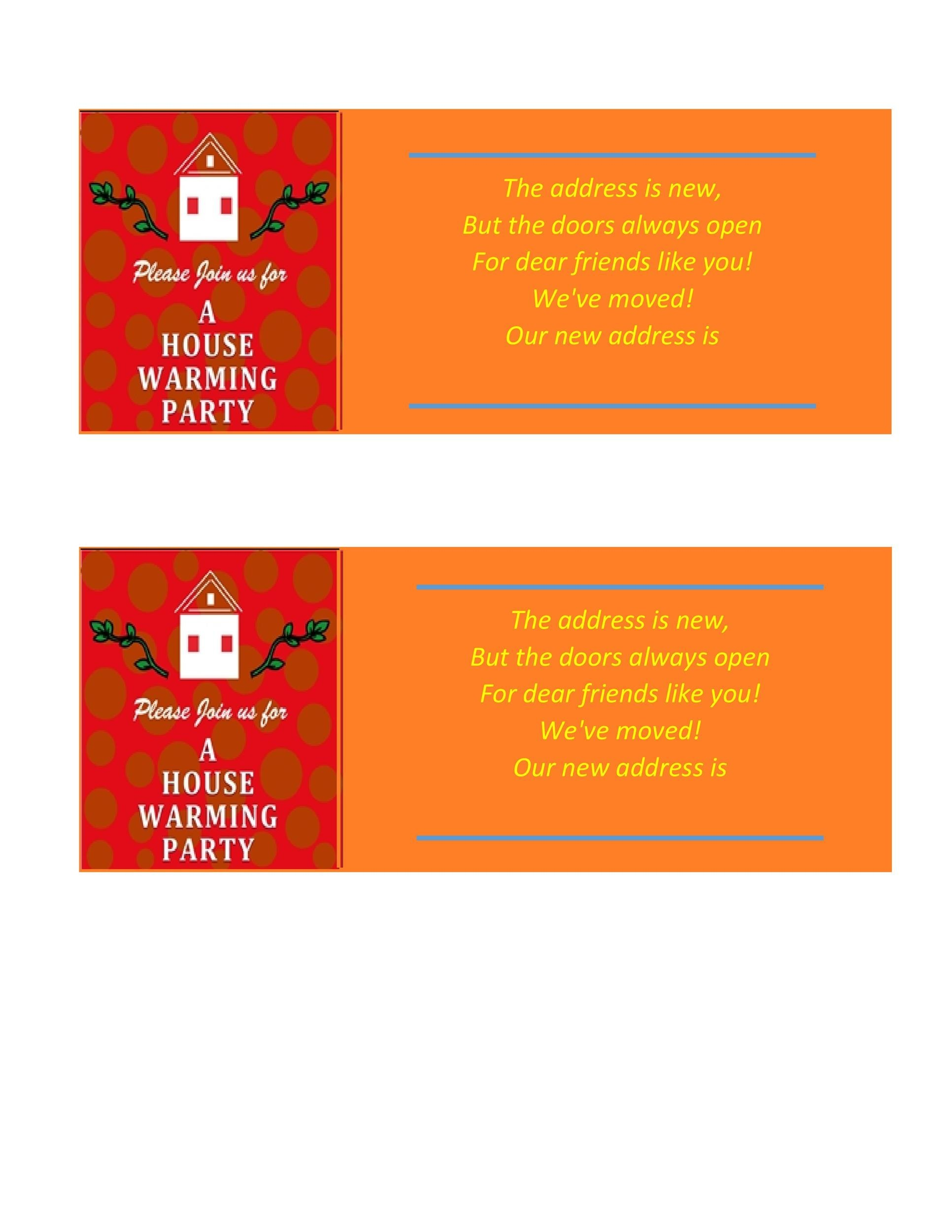 Free Housewarming Invitation Template 34
