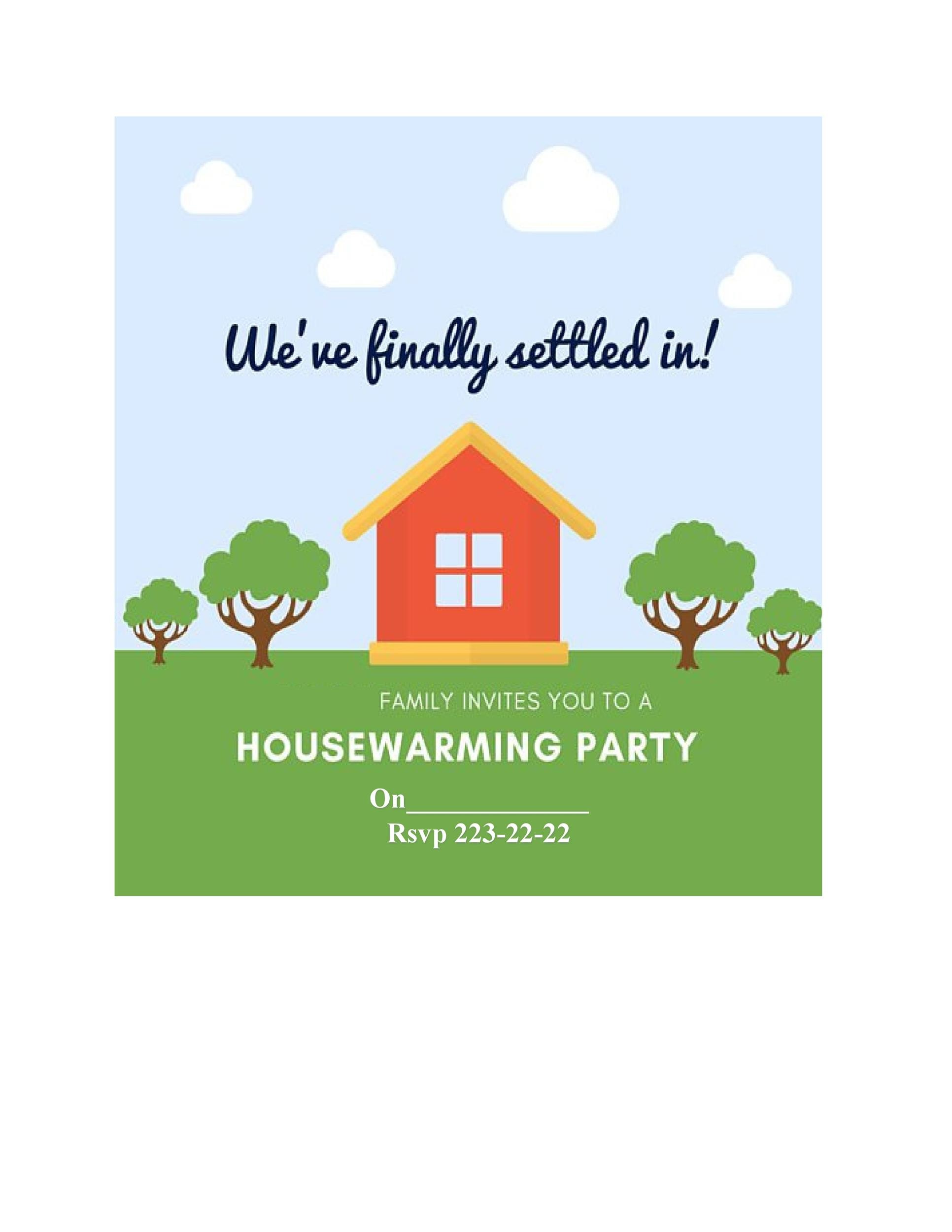 Free Housewarming Invitation Template 36