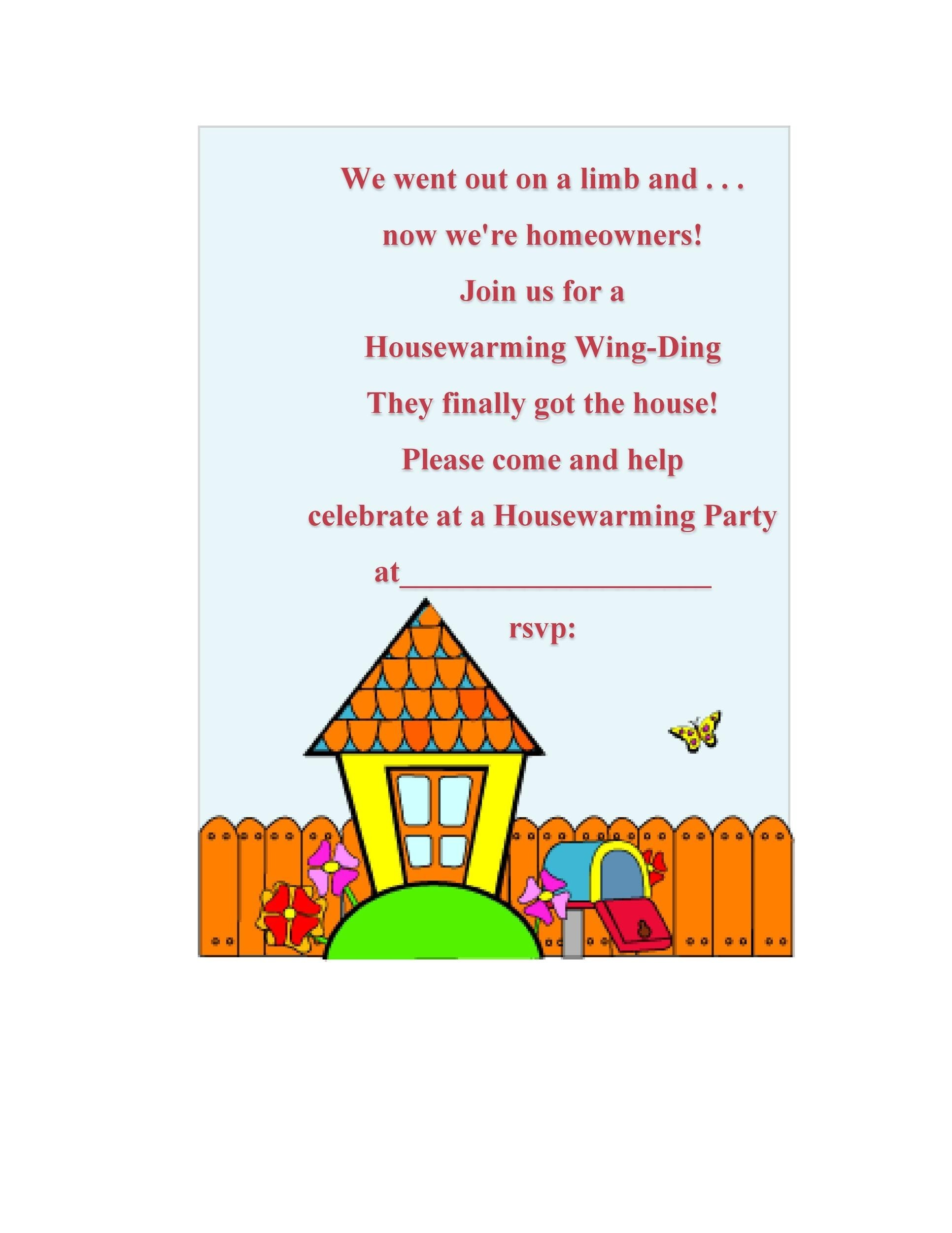 Free Housewarming Invitation Template 43