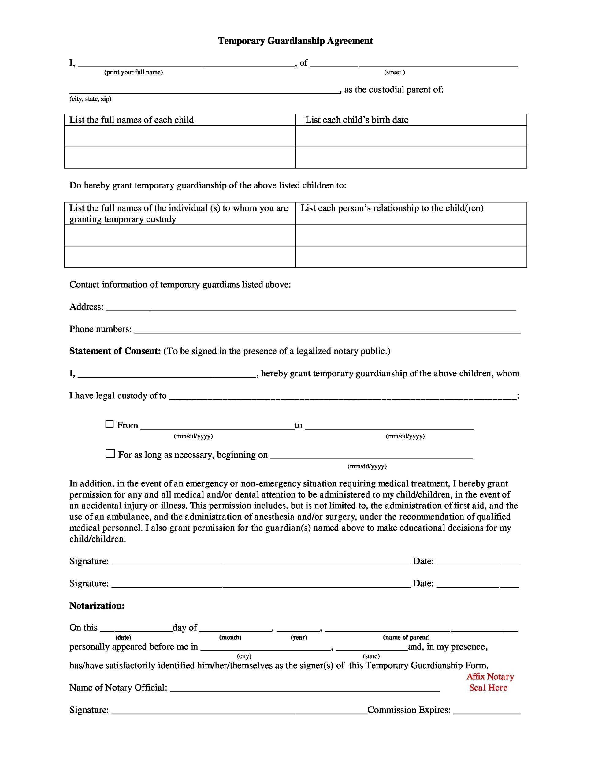 Free Notarized Letter Template 01