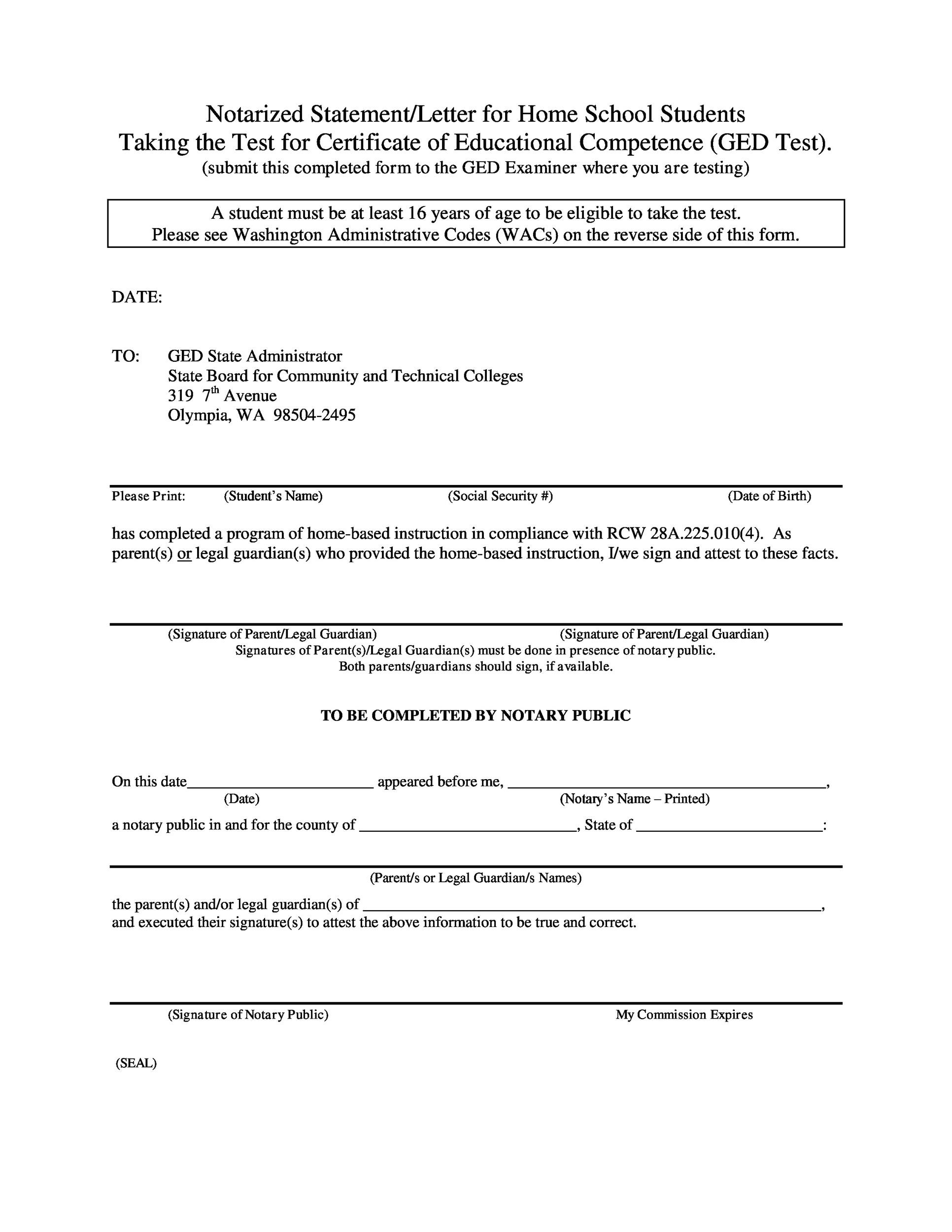 Free Notarized Letter Template 05
