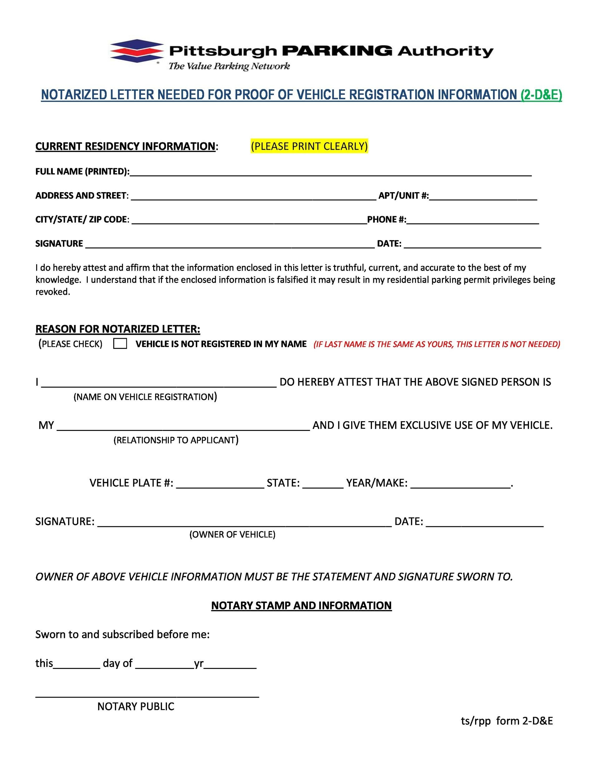 Free Notarized Letter Template 08