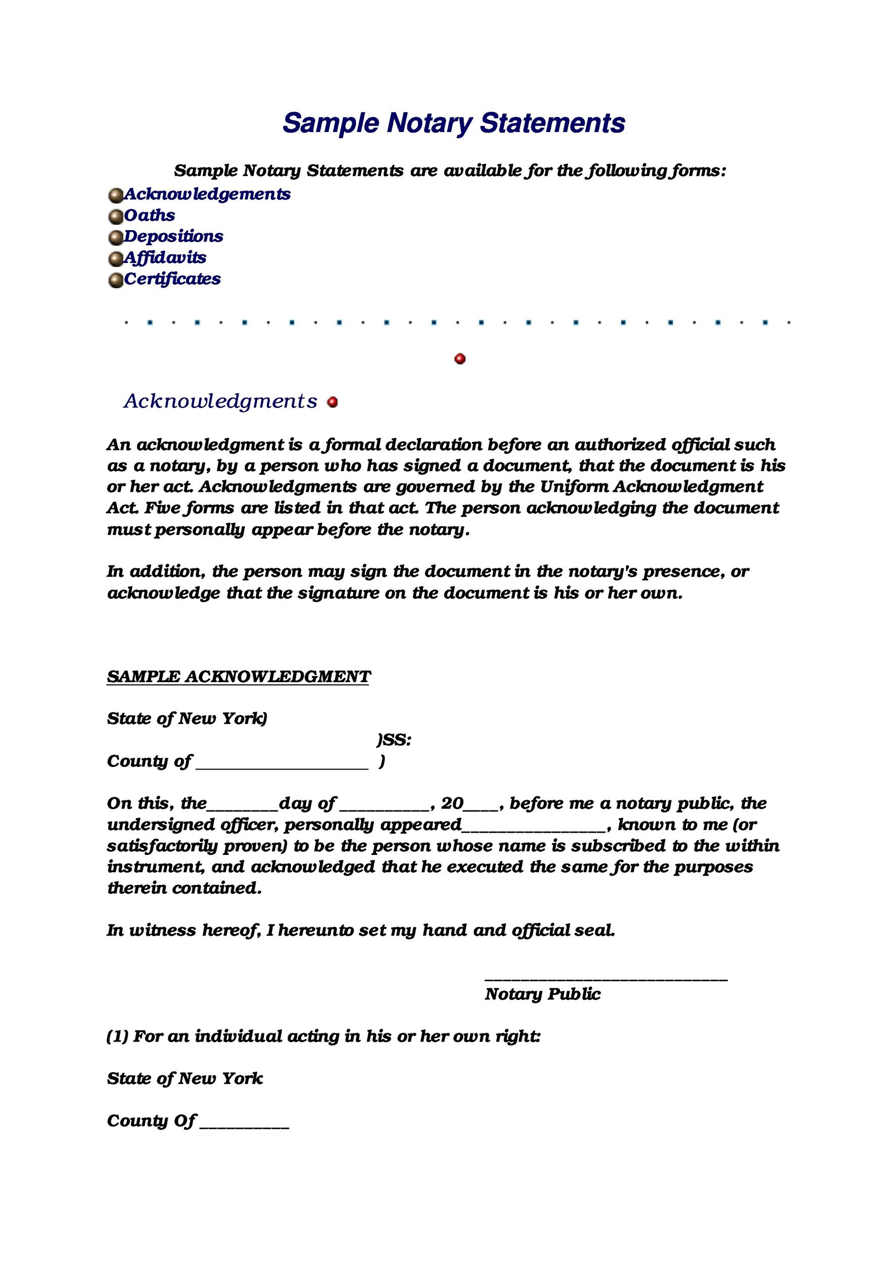 Free Notarized Letter Template 09
