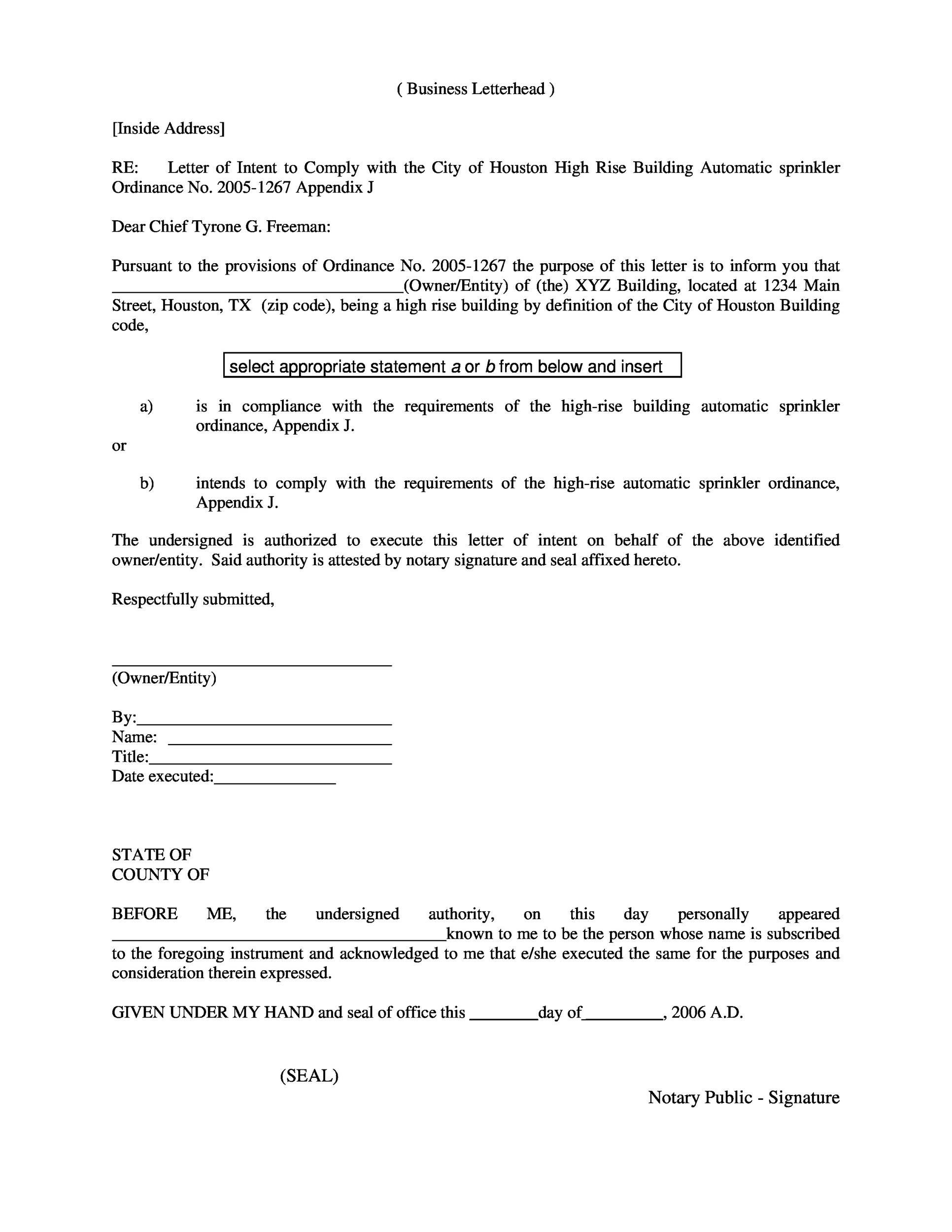 Free Notarized Letter Template 11