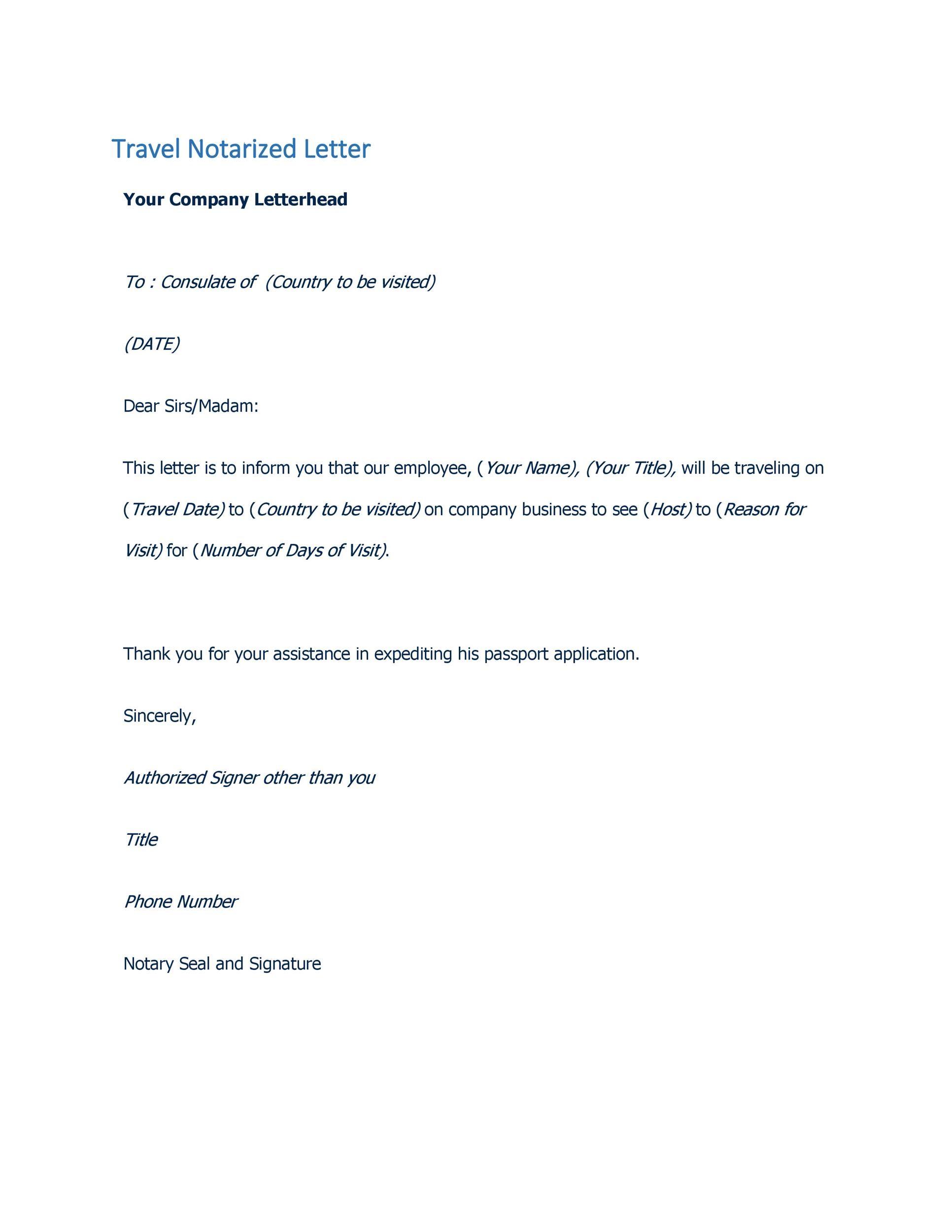Free Notarized Letter Template 16