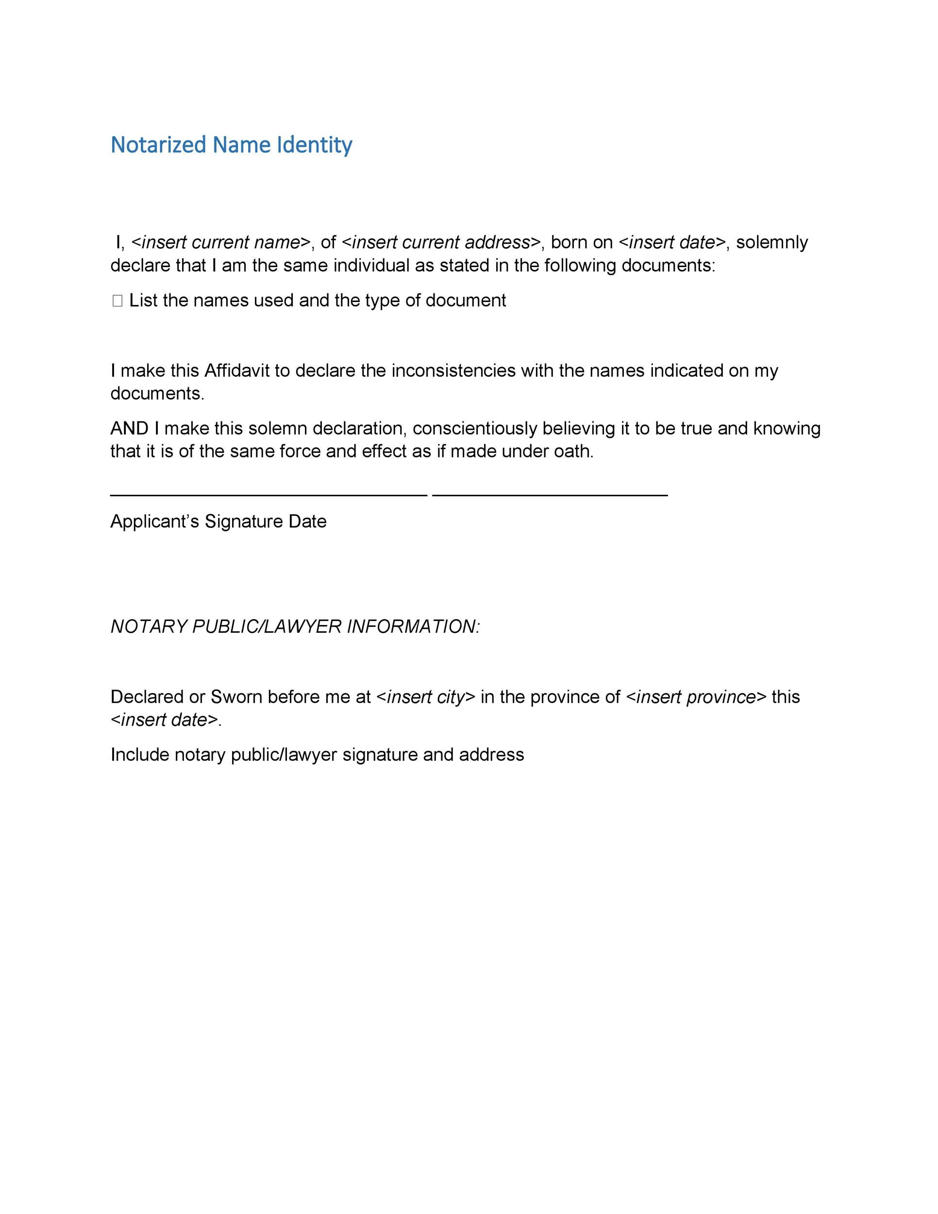 Free Notarized Letter Template 18