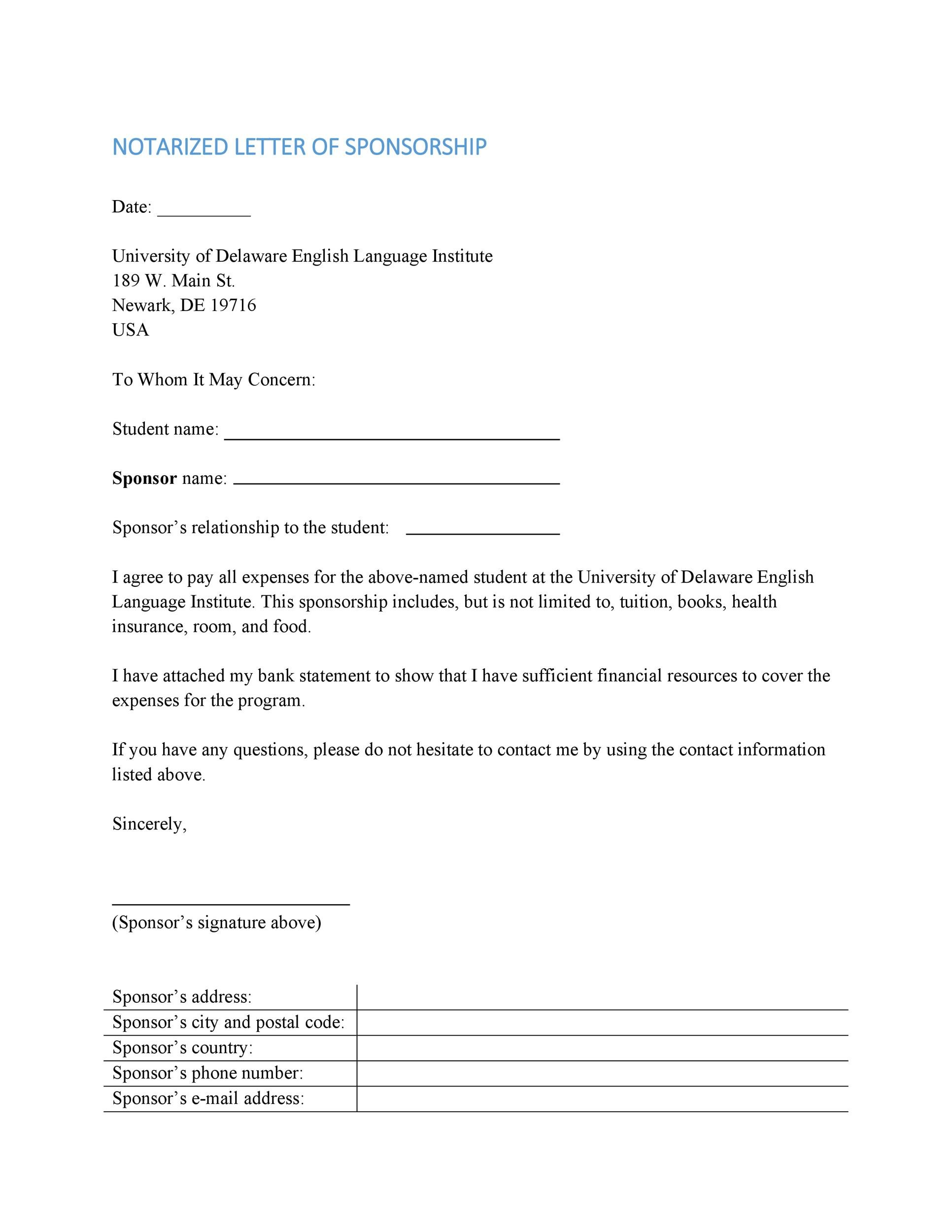 Free Notarized Letter Template 21