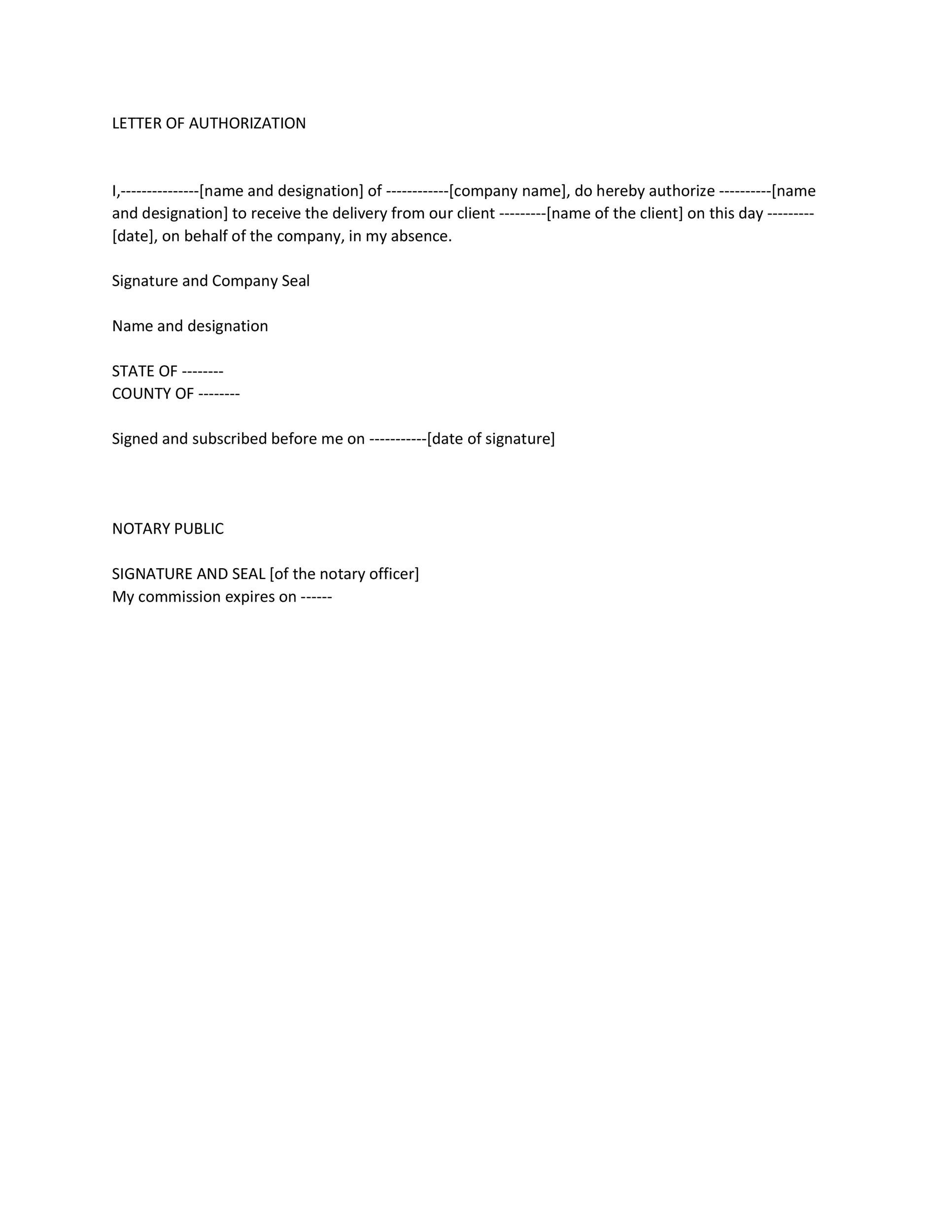 Free Notarized Letter Template 22