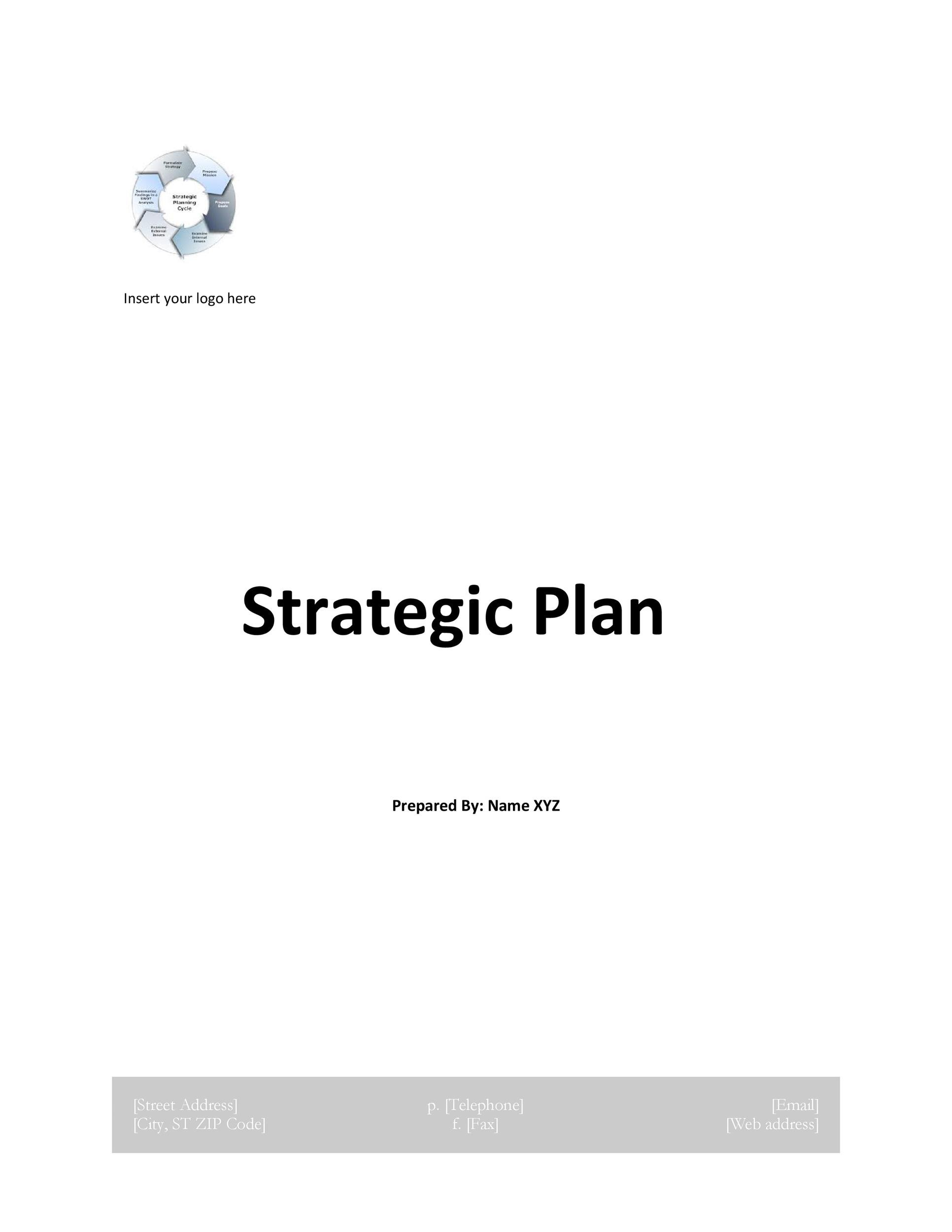 Free Strategic Plan Template 03