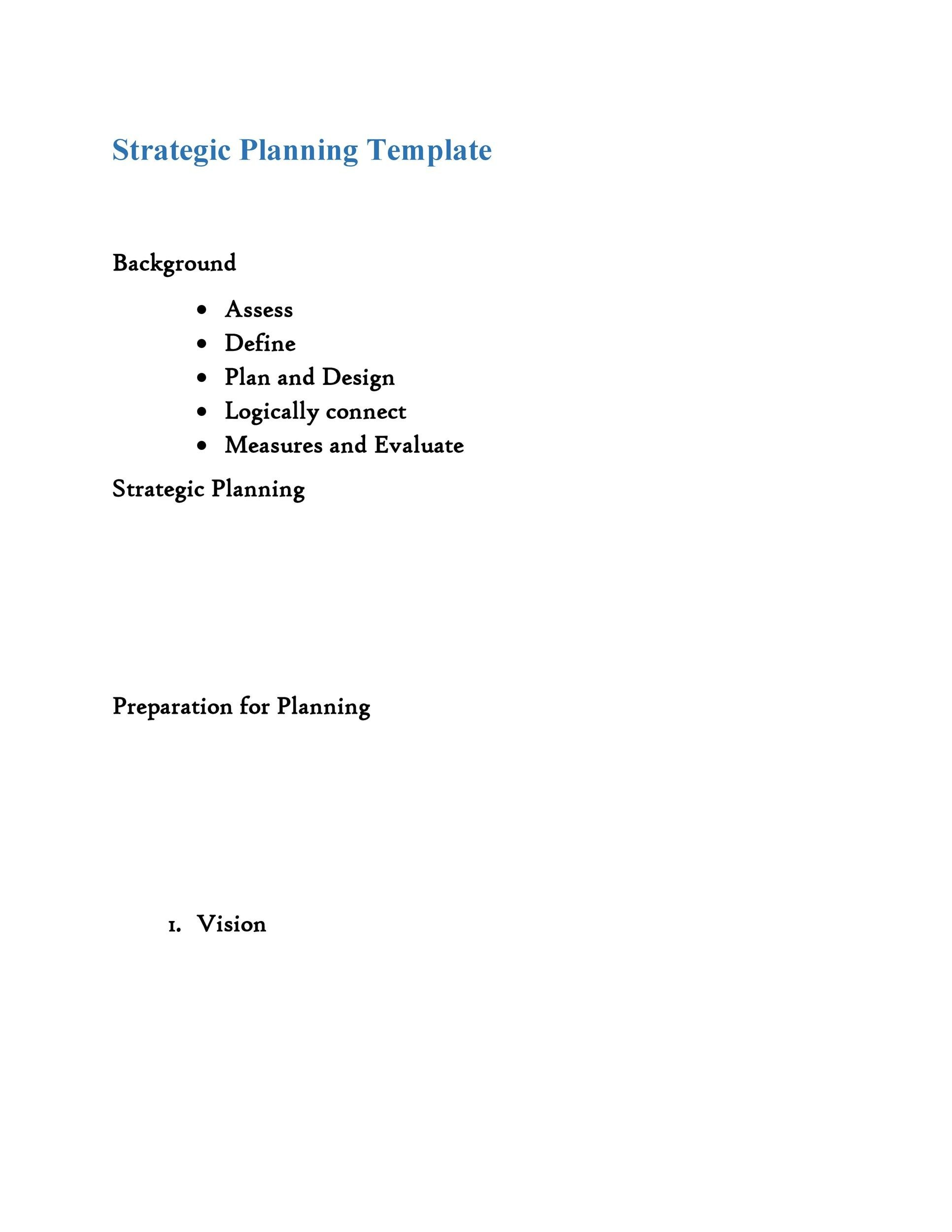 32 great strategic plan templates to grow your business for Free strategic plan template