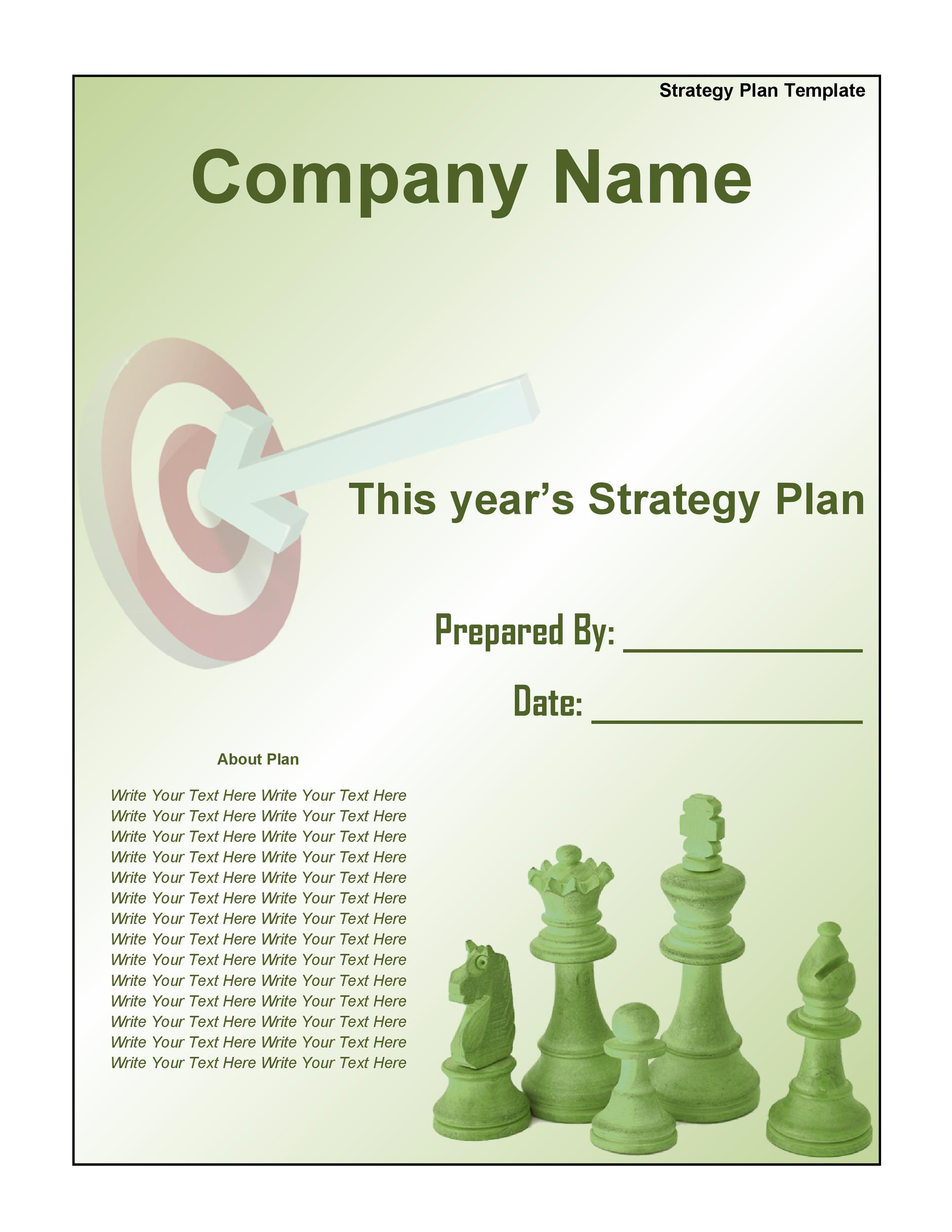 Strategic Plan Template 06