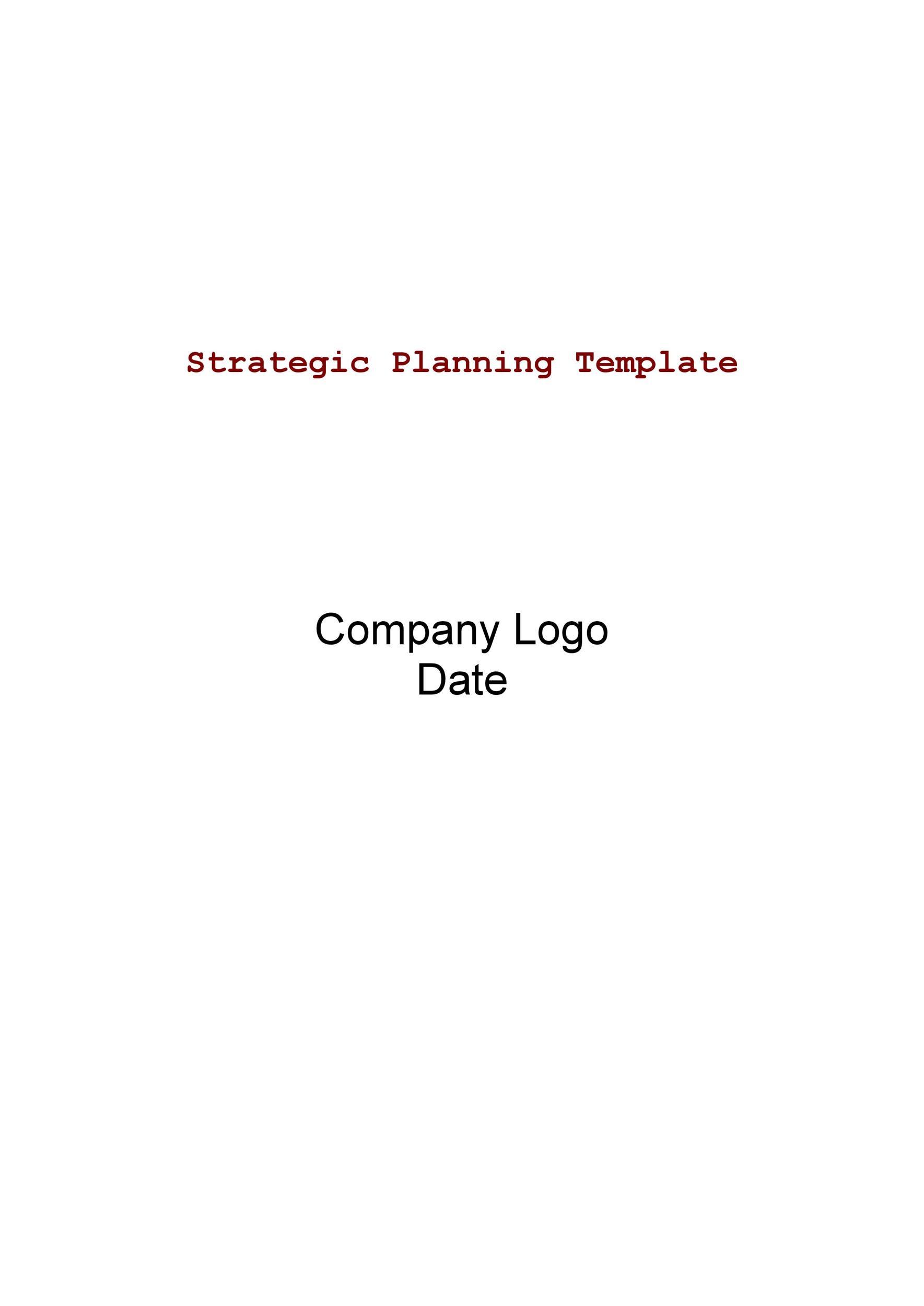 Free Strategic Plan Template 07