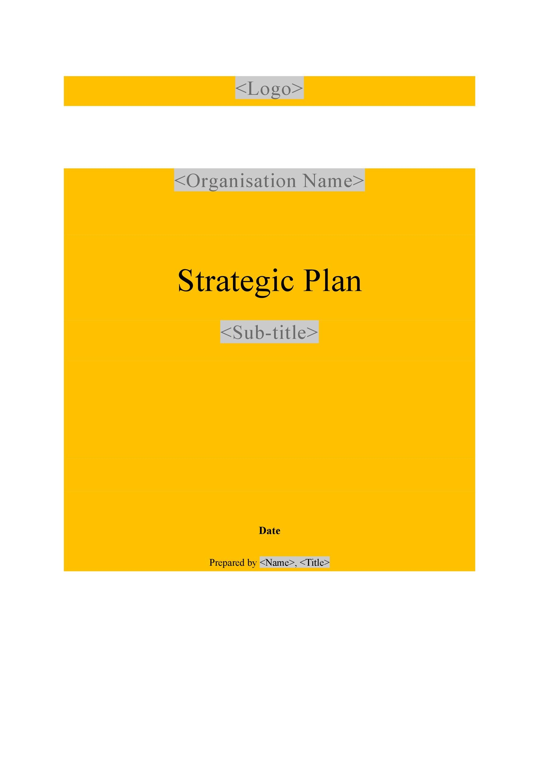 Strategic Plan Template 11