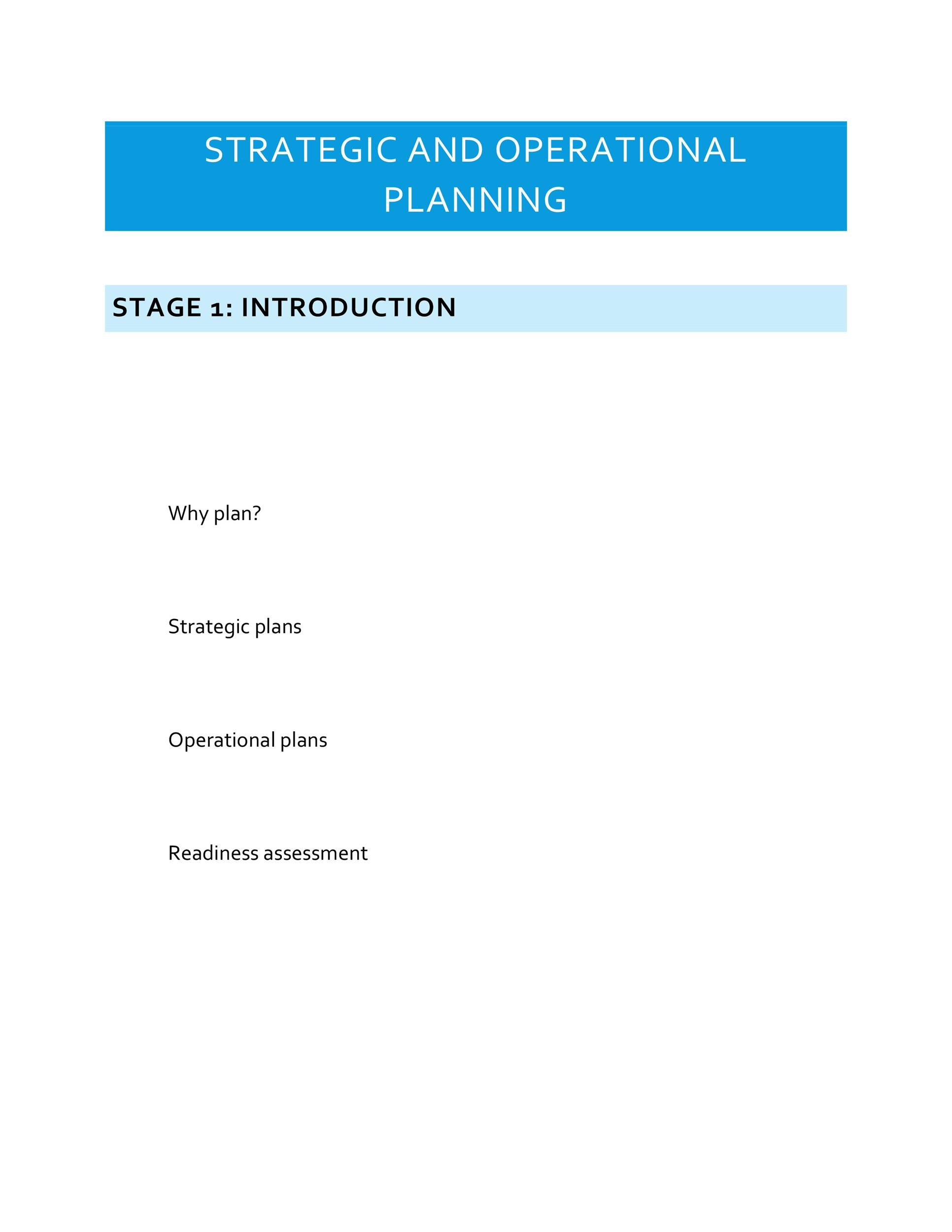 Free Strategic Plan Template 12