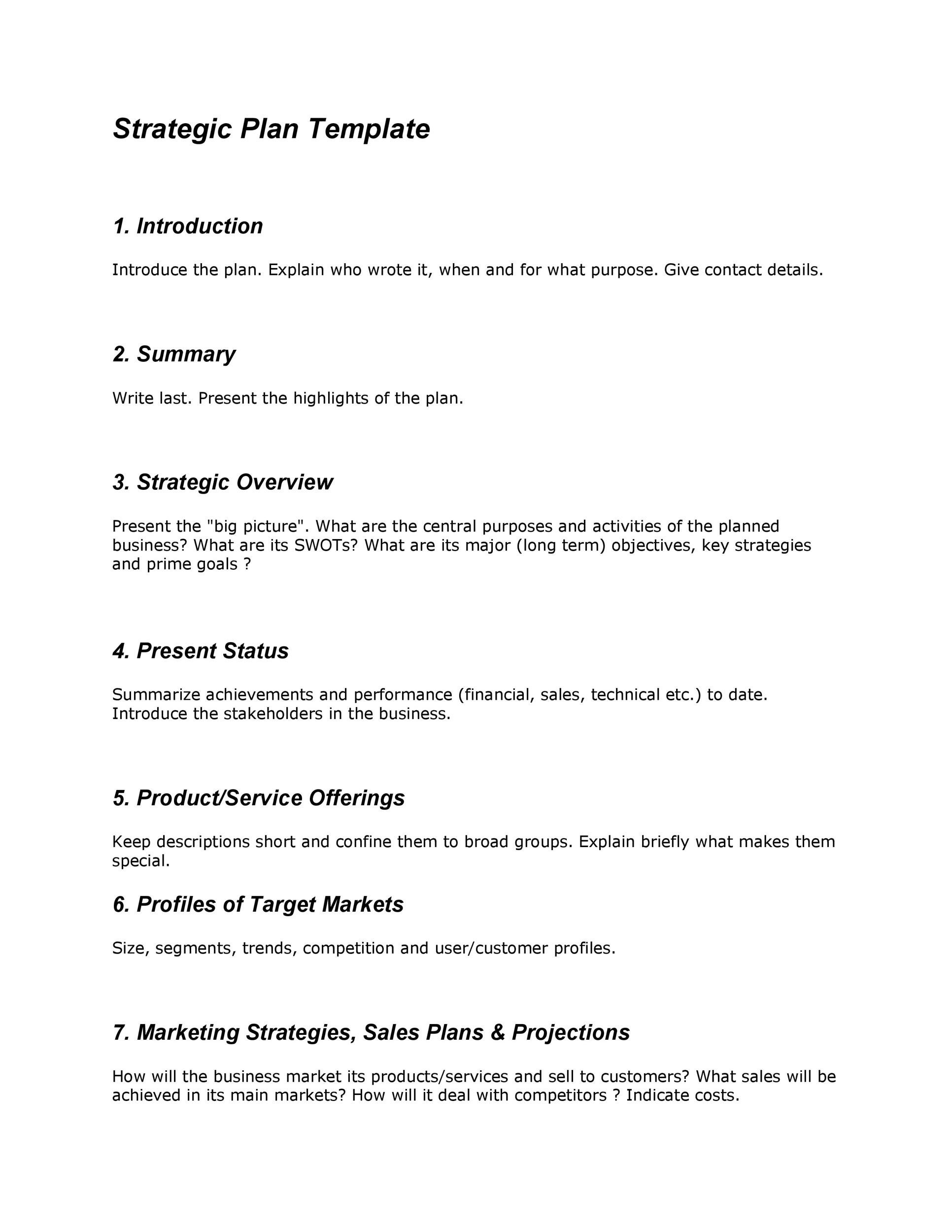 Free Strategic Plan Template 13